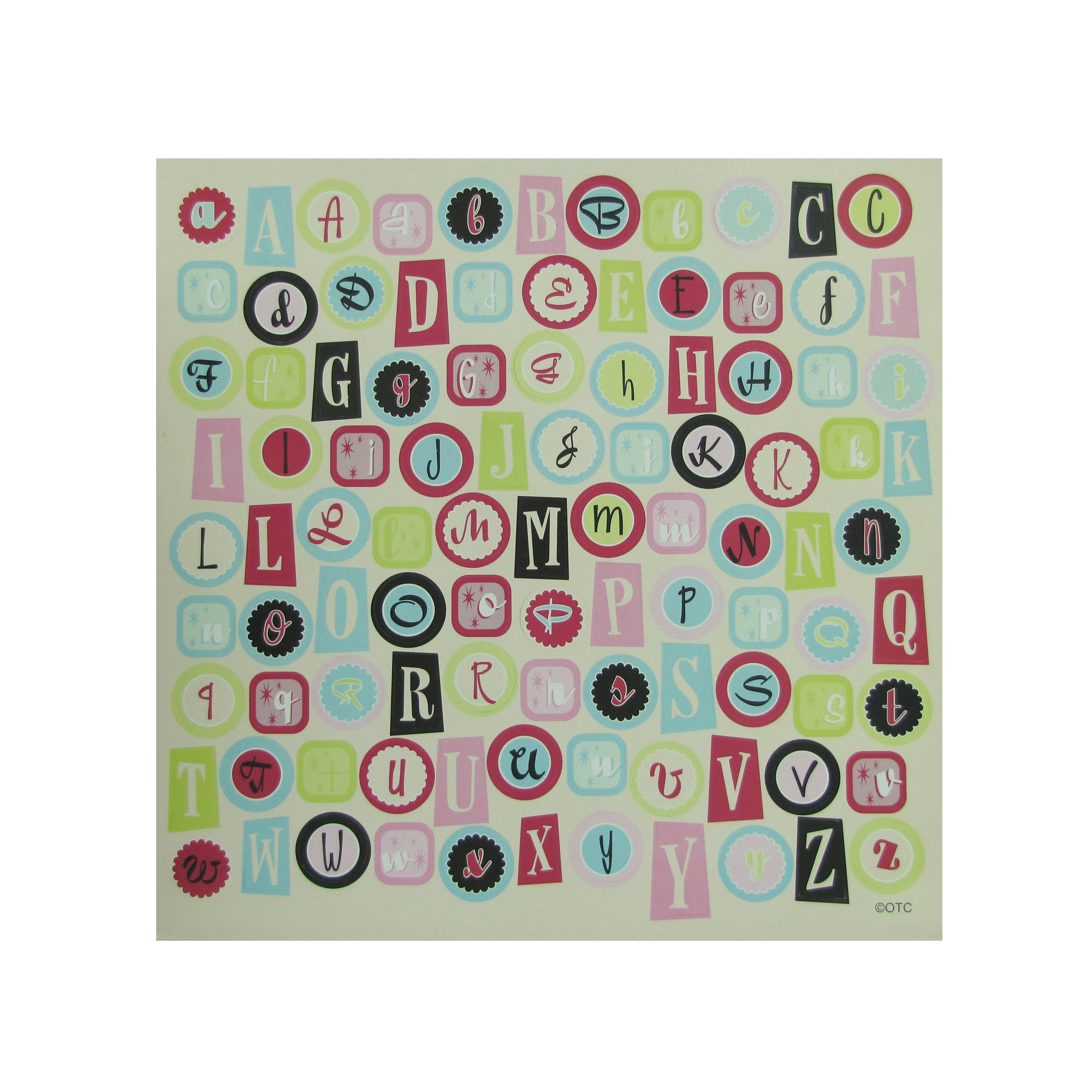 Cardstock Home Cookin' Alphabet STICKERS- Qty 24