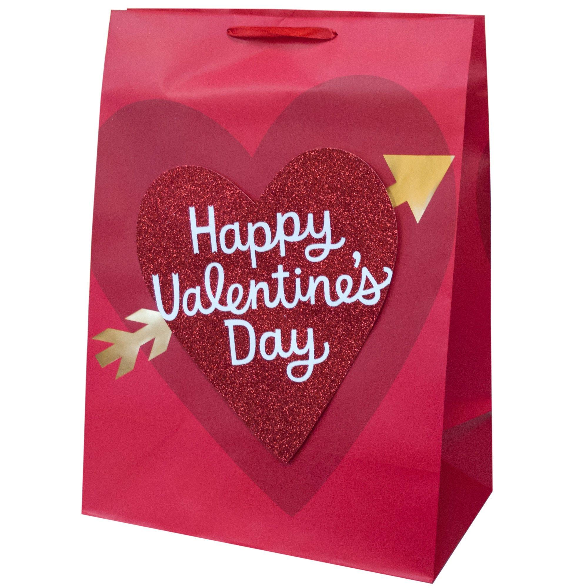Mega Glitter Heart VALENTINE Gift Bag- Qty 24