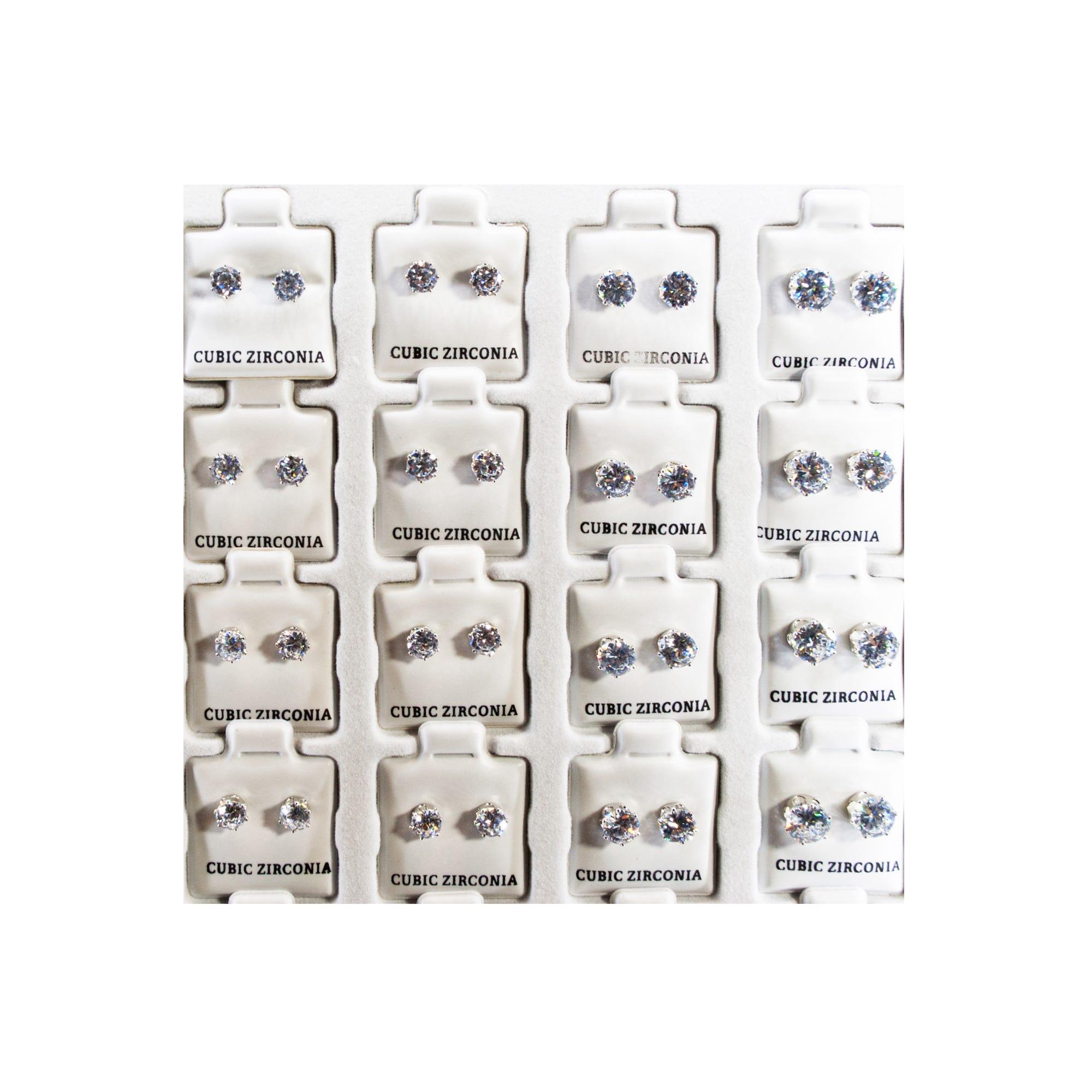 CUBIC ZIRCONIA Earrings Refill- Qty 72