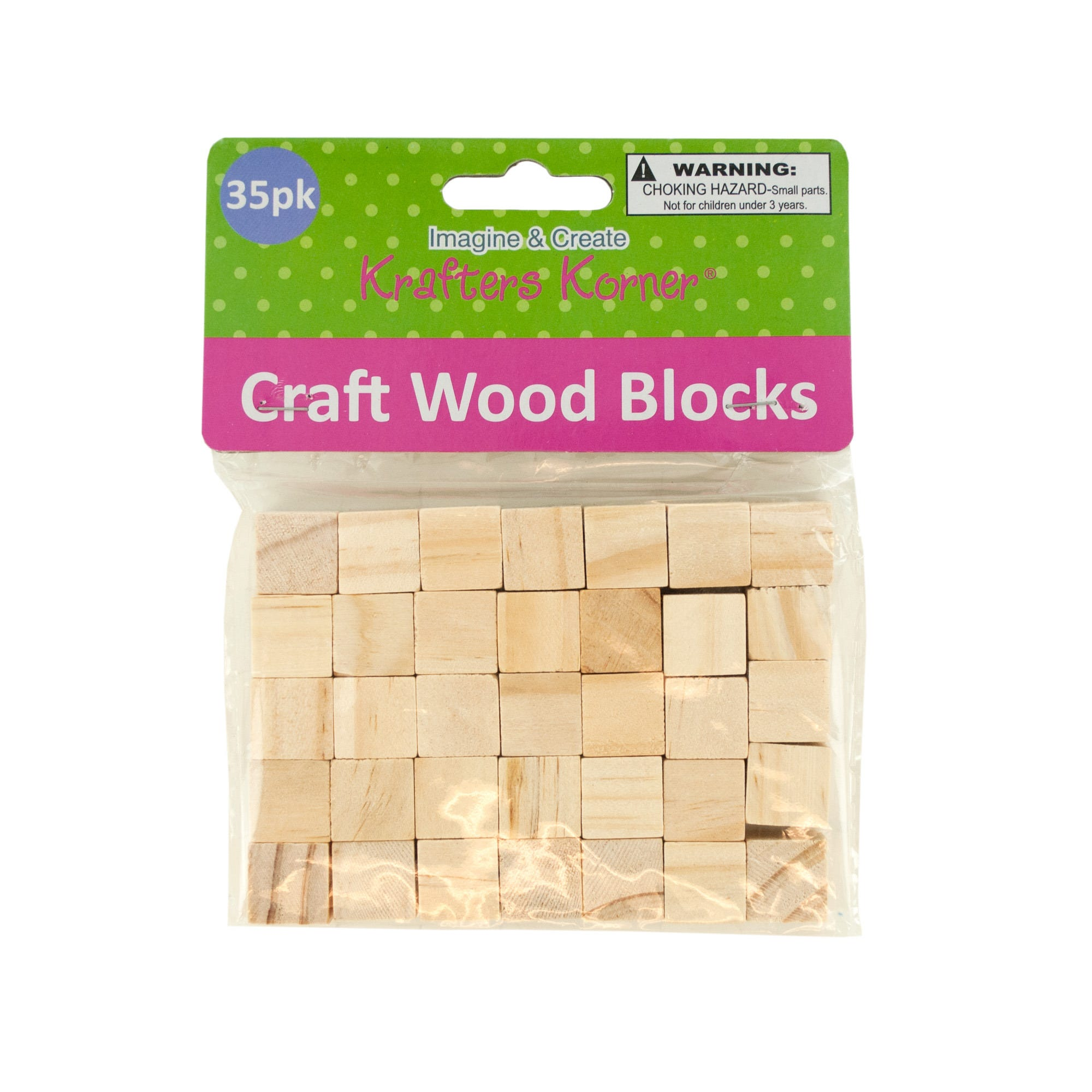 Natural Wooden Craft BLOCKS- Qty 24