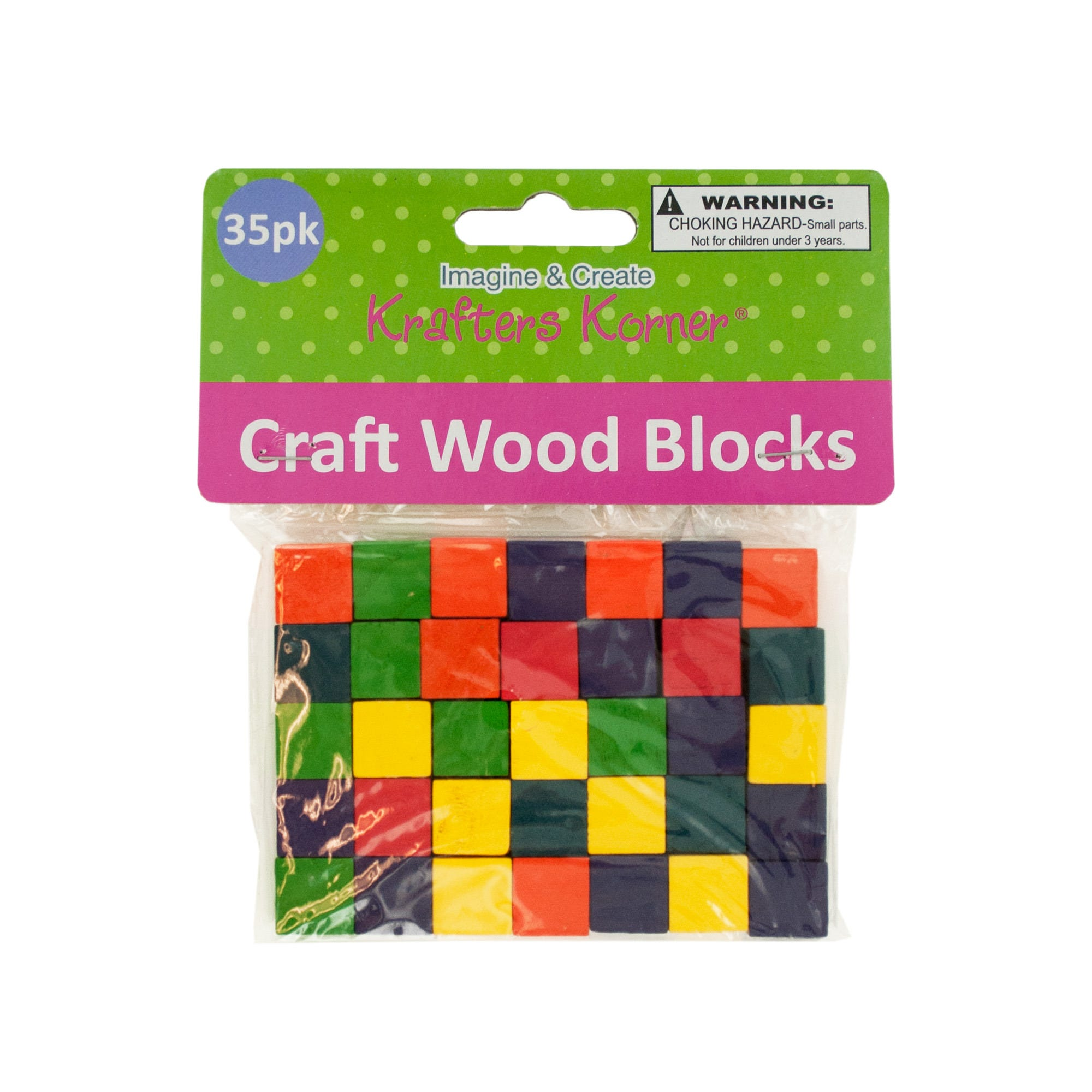 Colored Wooden Craft BLOCKS- Qty 24
