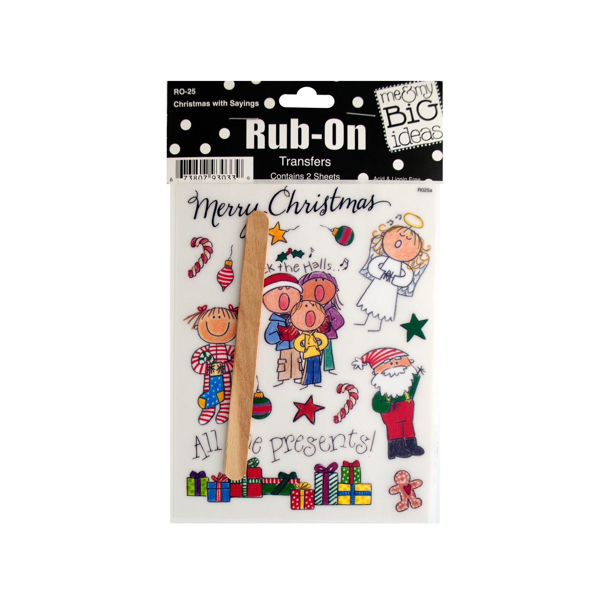 CHRISTMAS-with-sayings-rub-on-transfers