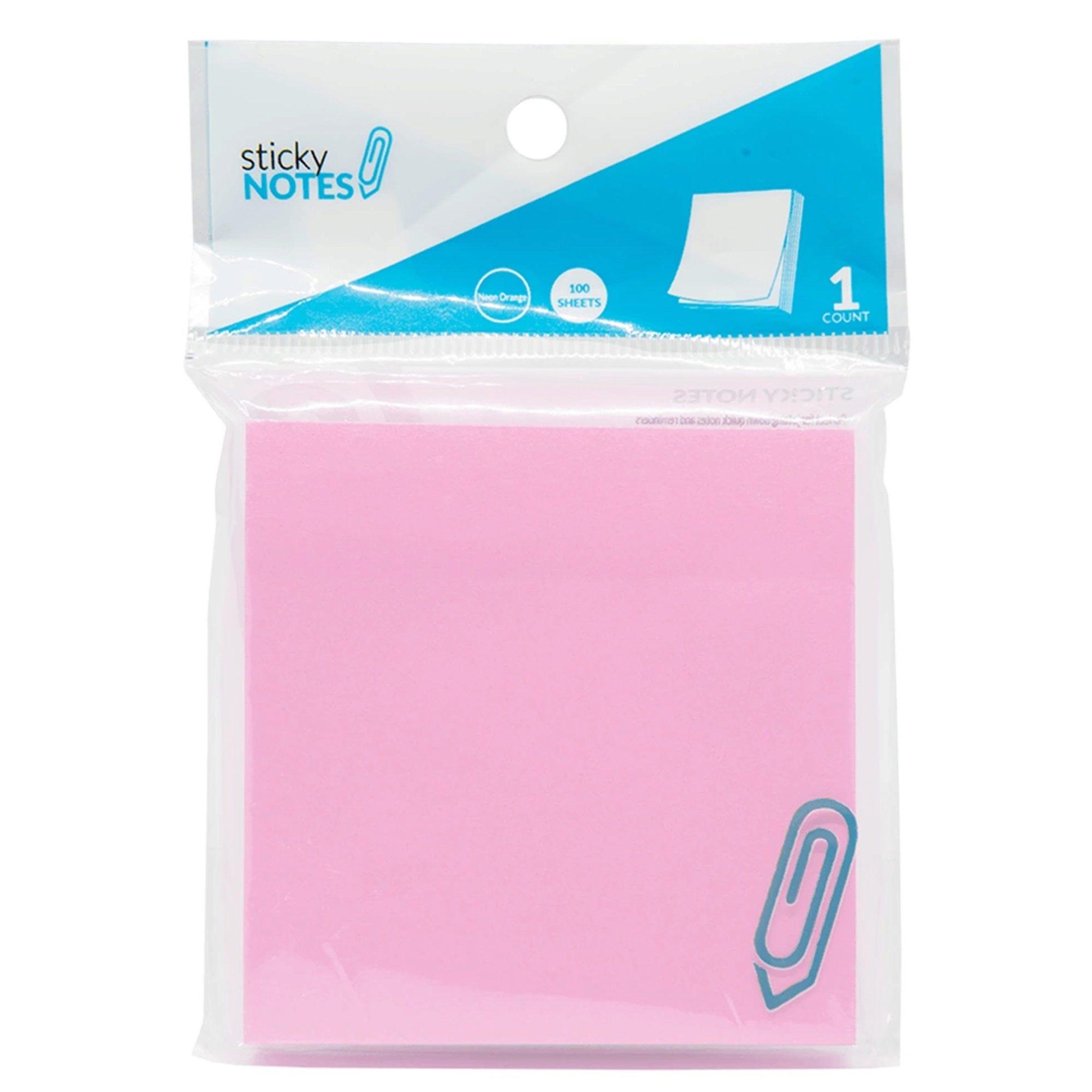''3'''' X 3'''' Pink Sticky Notes - Qty 82''