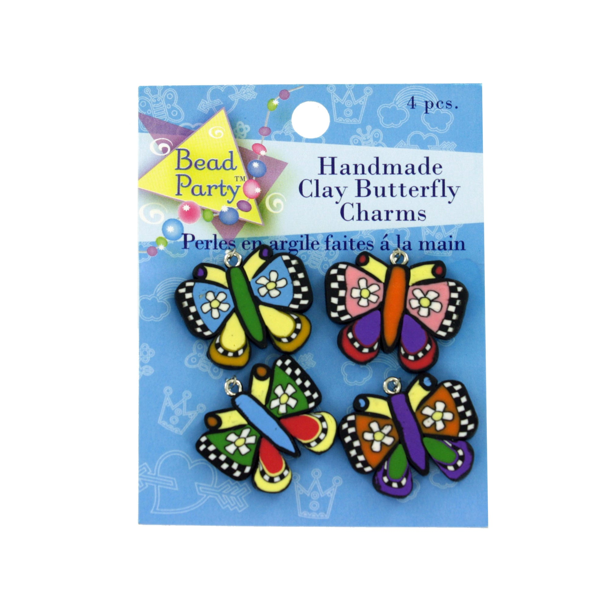 Clay Butterfly Charms- Qty 24