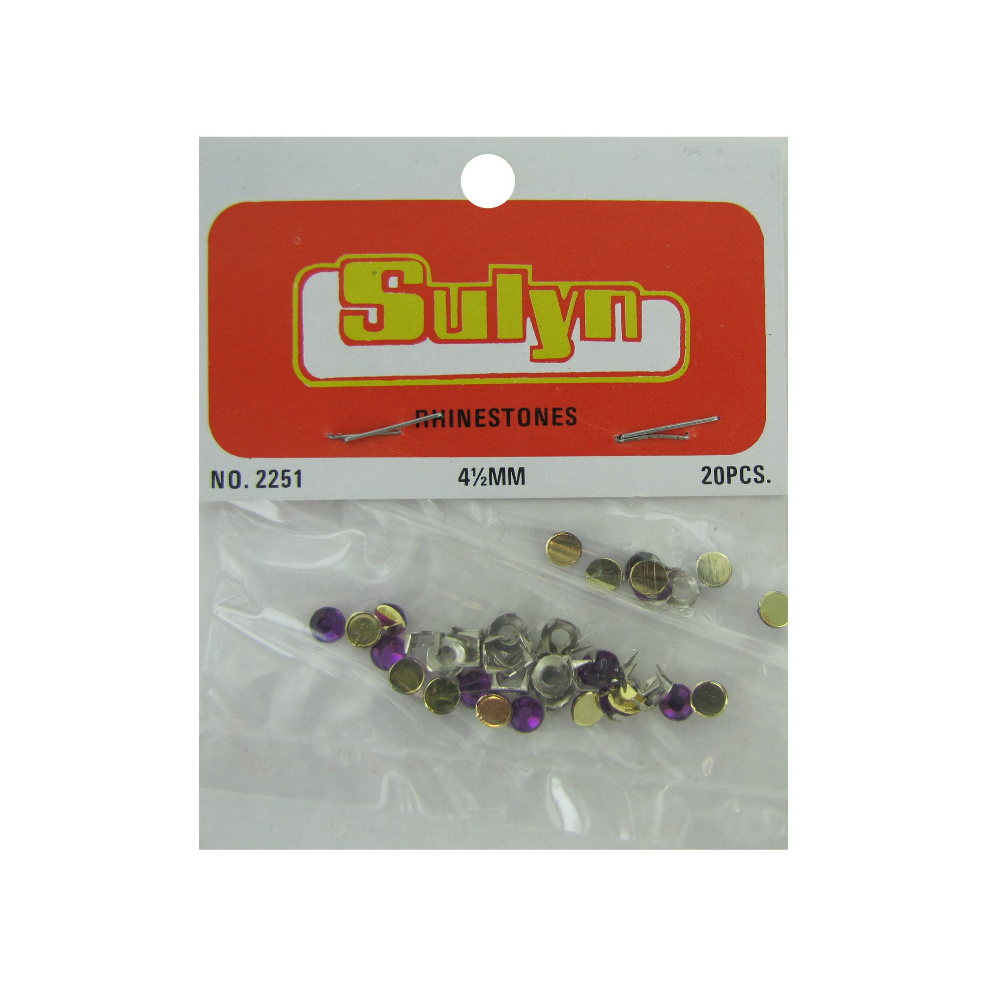 Purple Craft RHINESTONEs- Qty 24