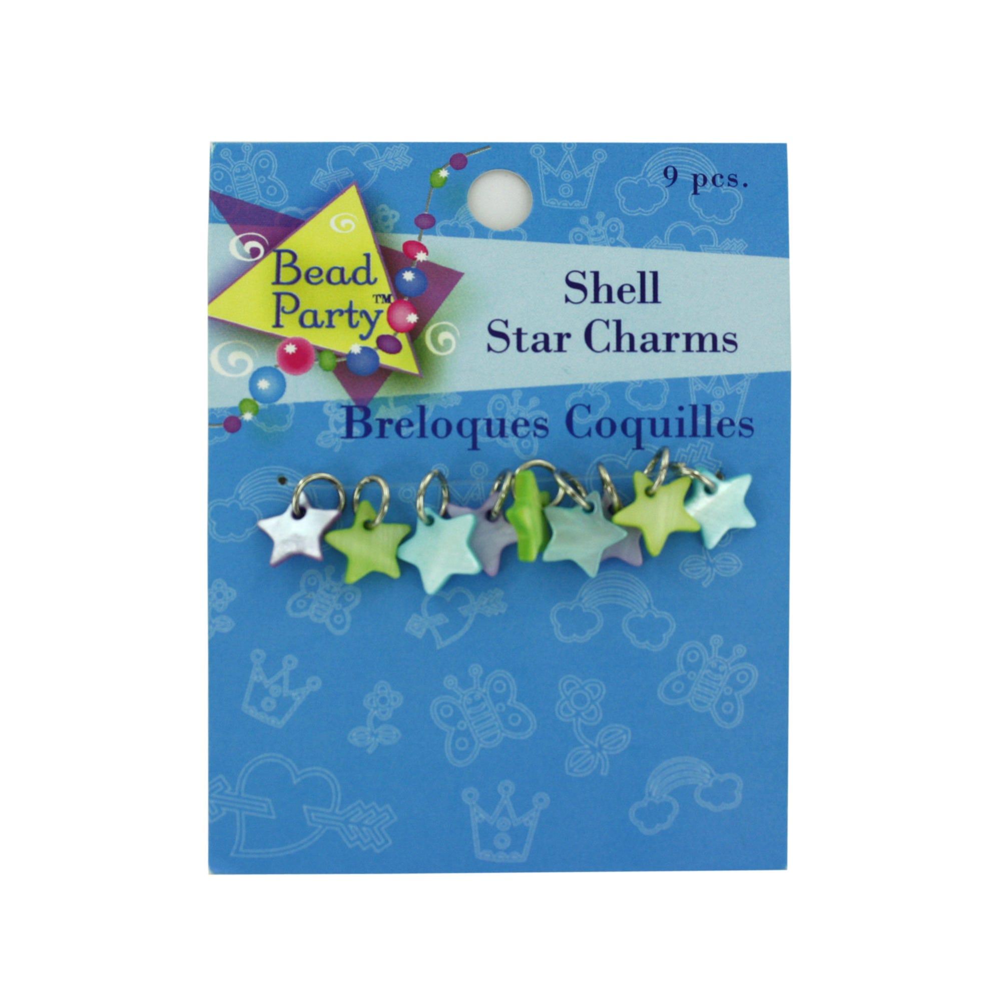 Pastel Shell Star CHARMs- Qty 24