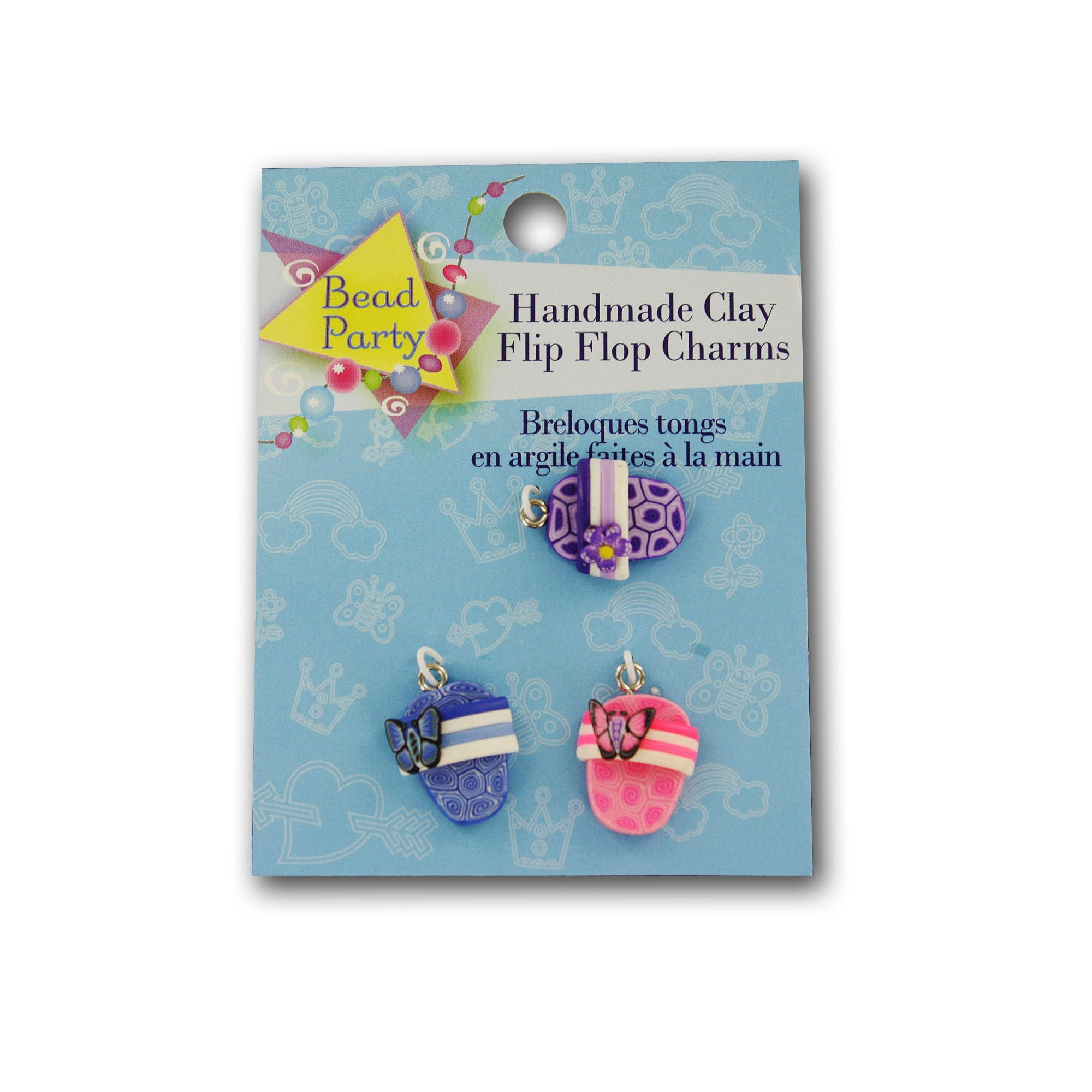 Clay Flip Flop CHARMs- Qty 24