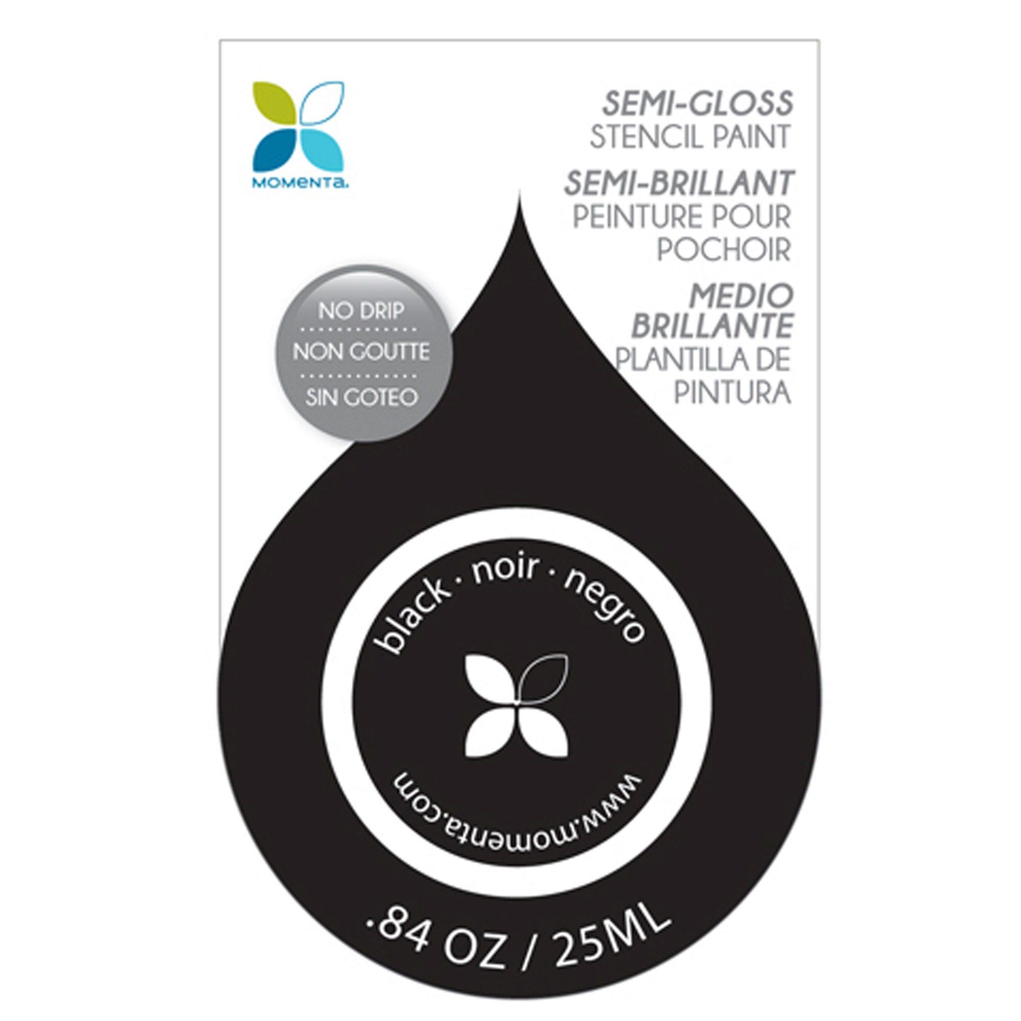 Black Semi-Gloss No Drip Stencil PAINT- Qty 24
