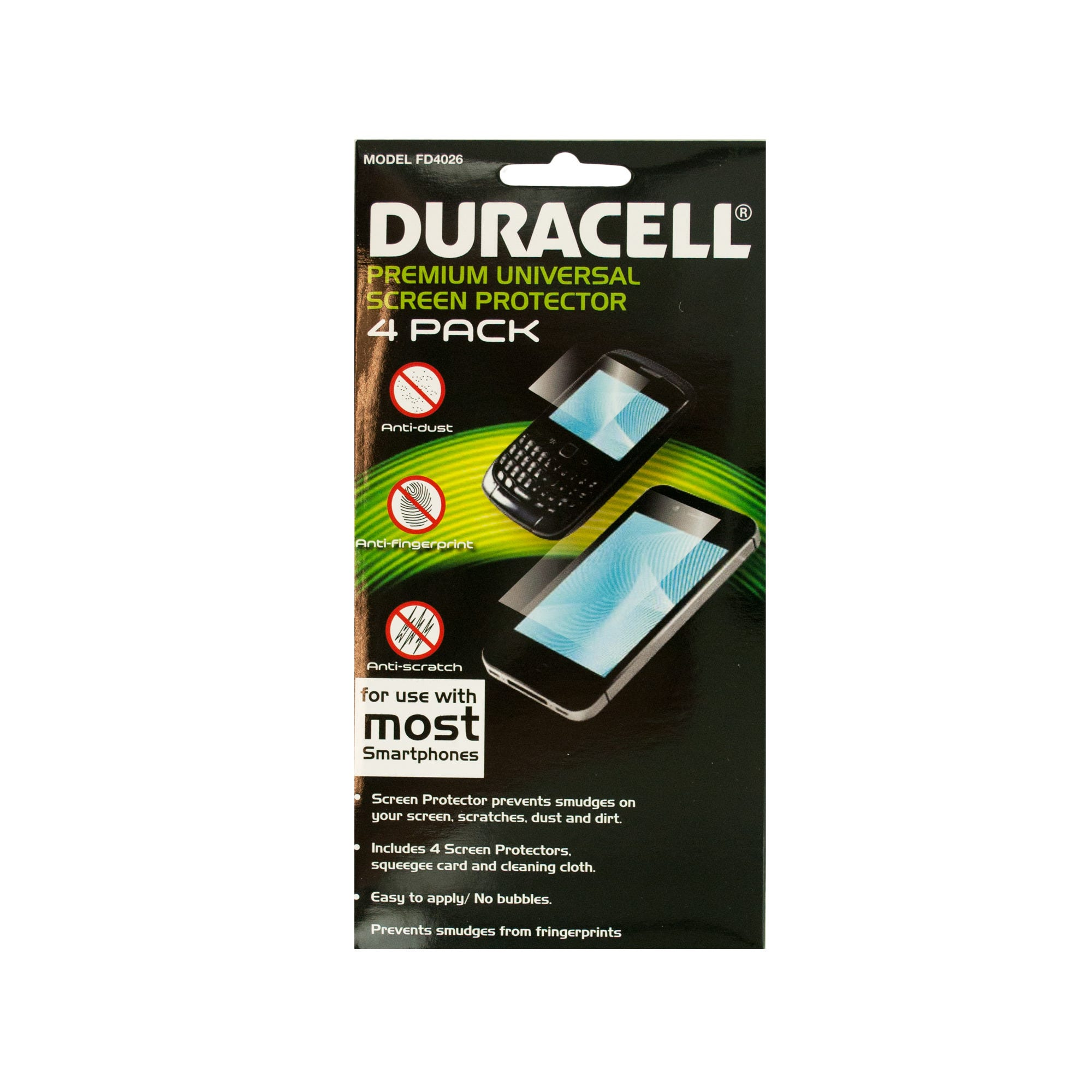 Duracell Universal Smartphone Screen Protector Set- Qty 24