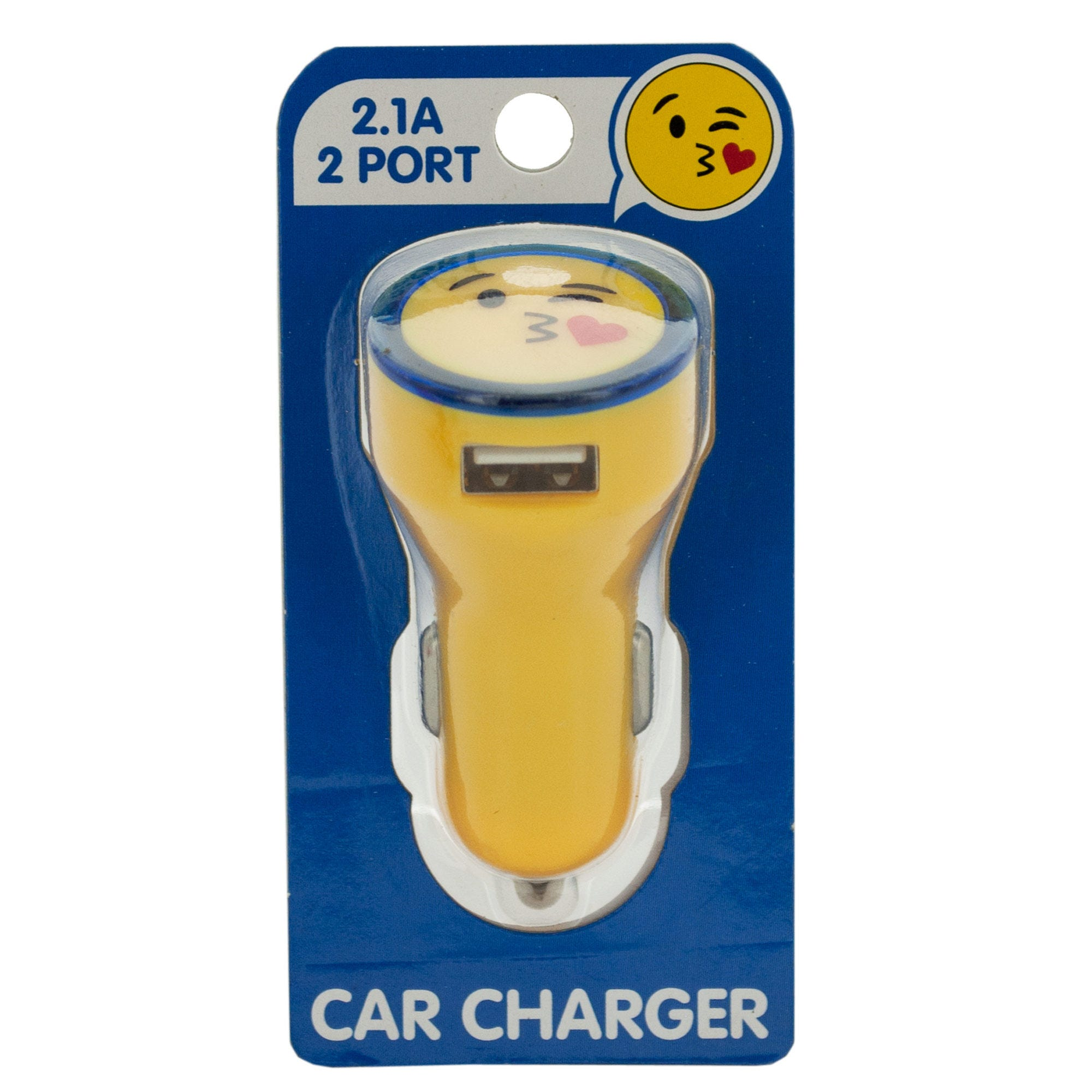 Emoticon Dual USB Port Car Charger- Qty 24