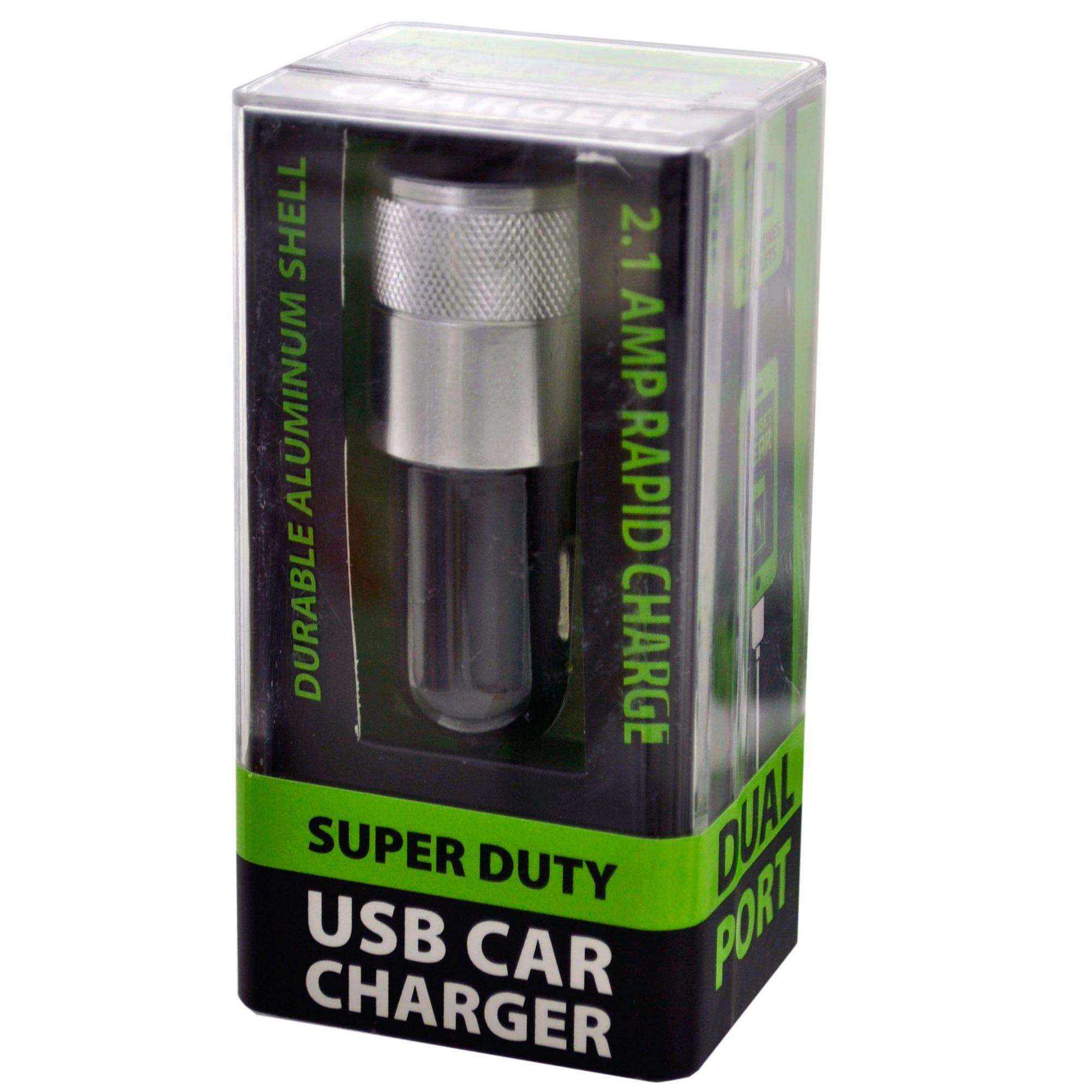 Super Duty Aluminum Dual USB Car Charger- Qty 24