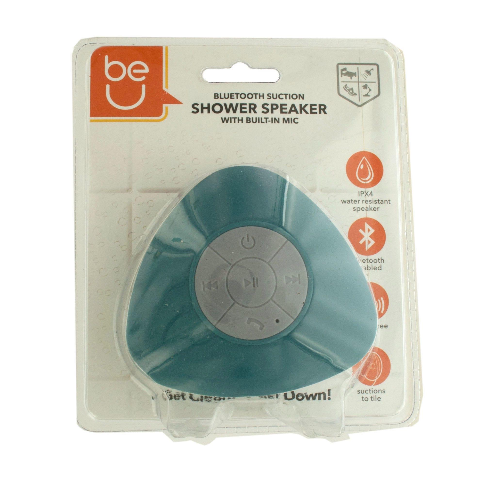 Be U Waterproof Bluetooth Shower Speaker - Turquoise