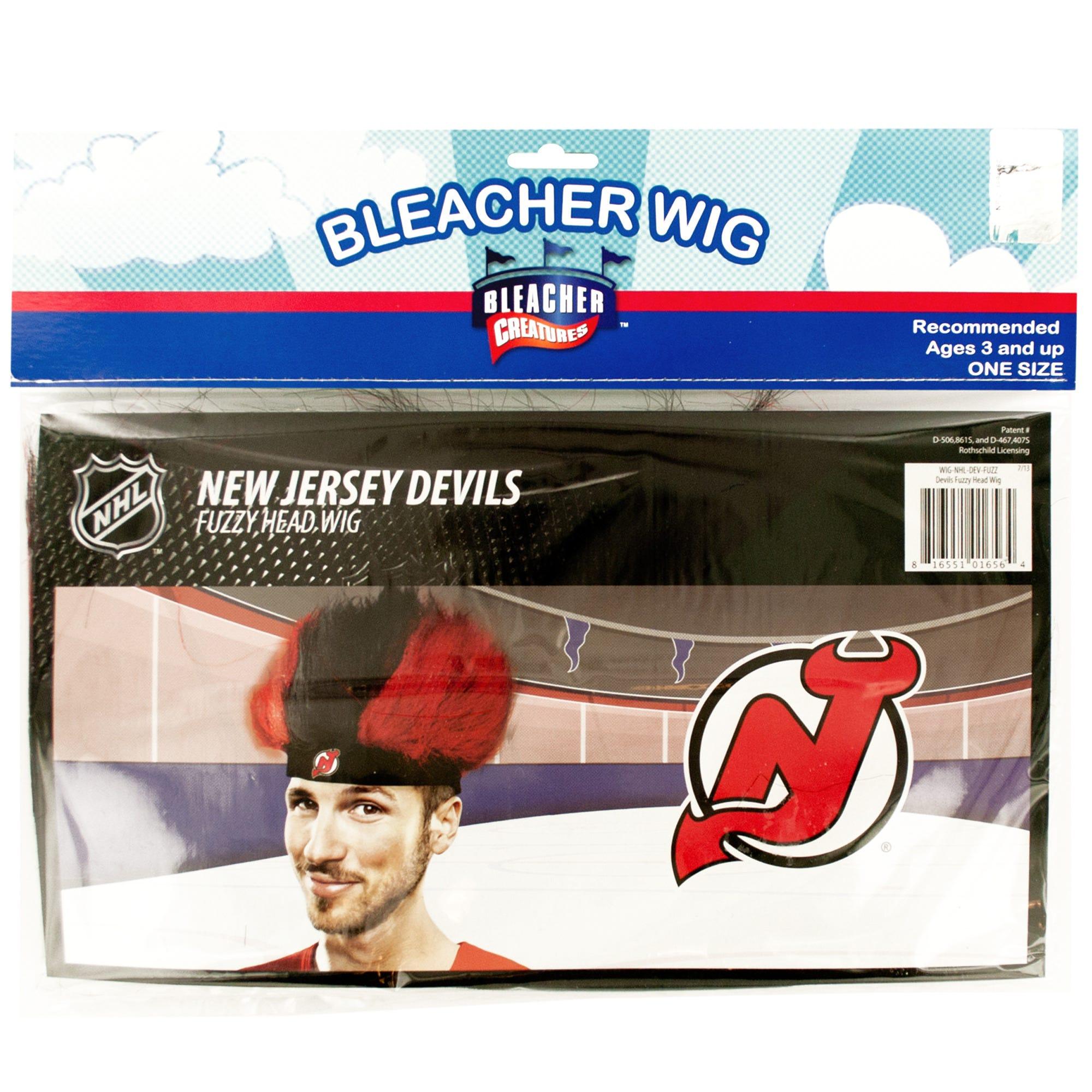 NEW Jersey Devils Fuzzy Head Wig- Qty 18