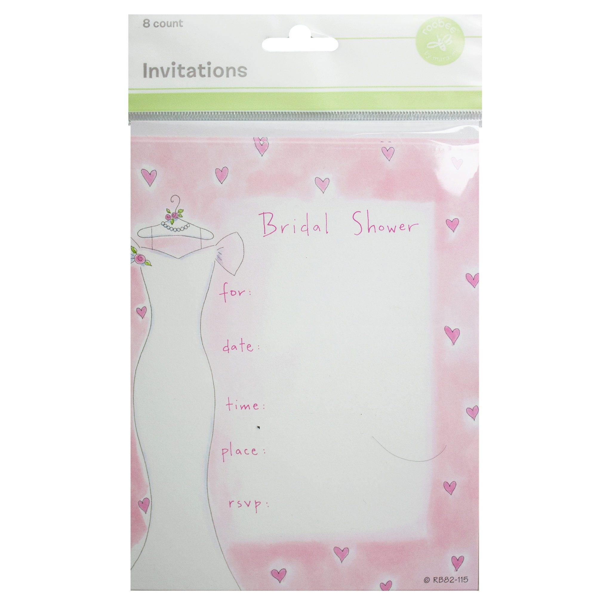 8ct DRESS Bridal Shower Invitation SetF - Qty 82
