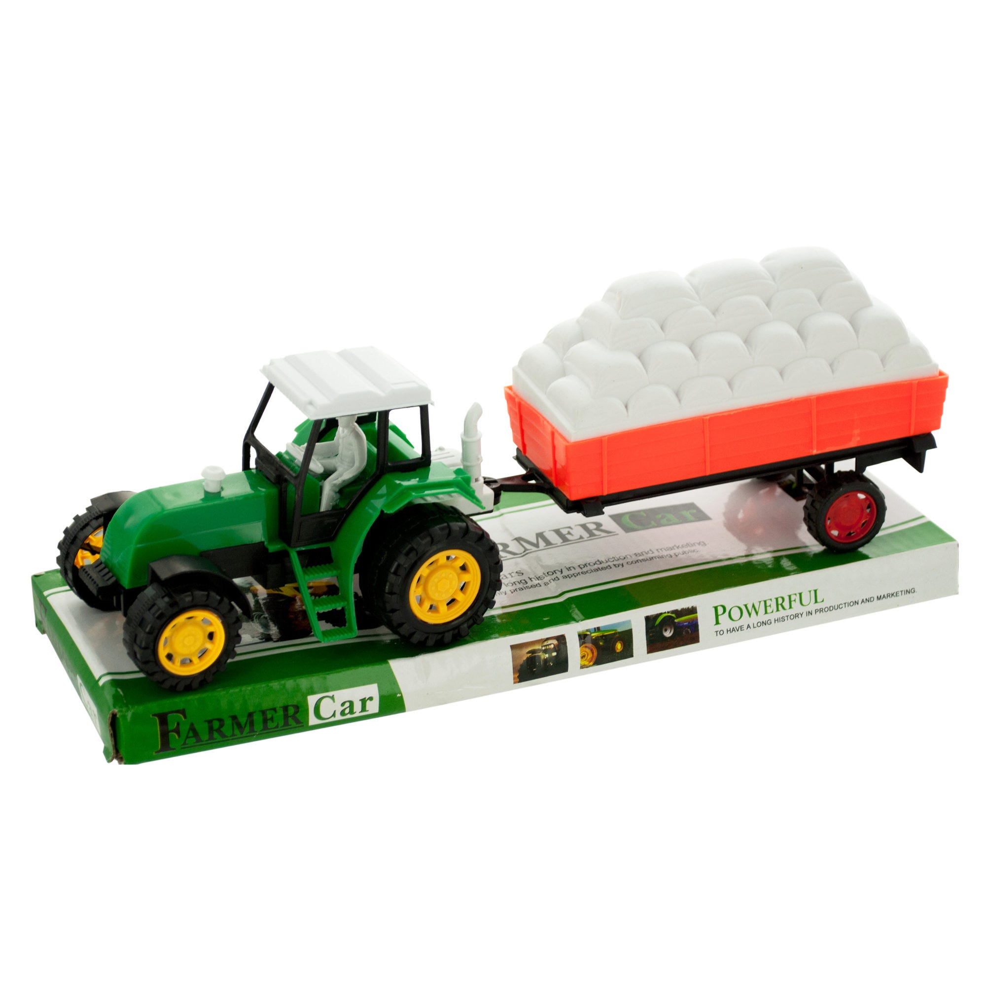 Friction Farm Tractor TRUCK & Trailer Set- Qty 8