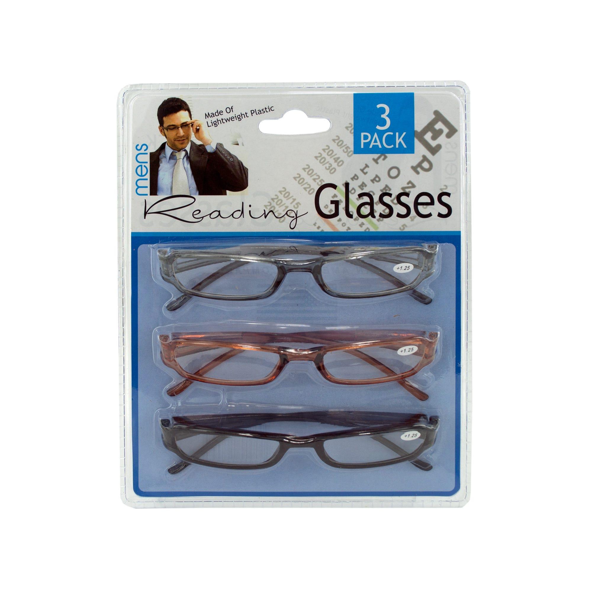 Men's READING GLASSES- Qty 4