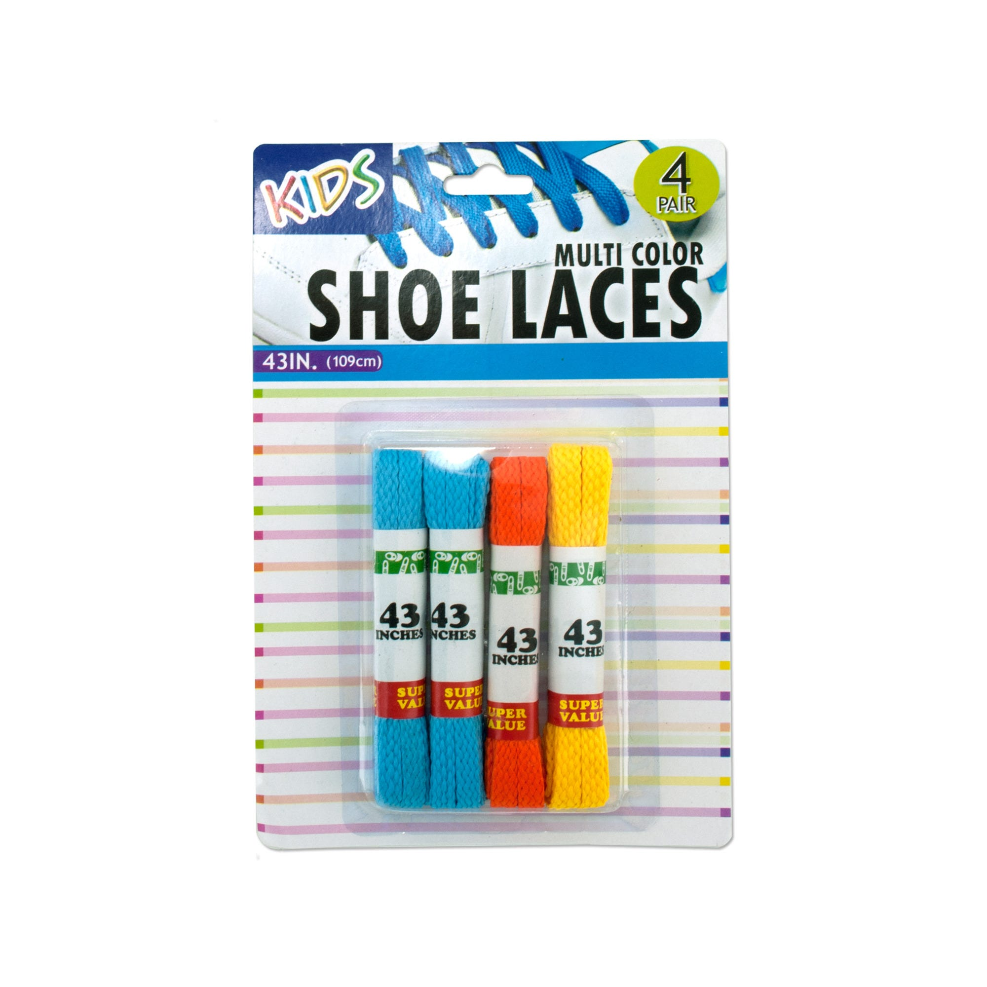 Kids Colored Shoelaces- Qty 24