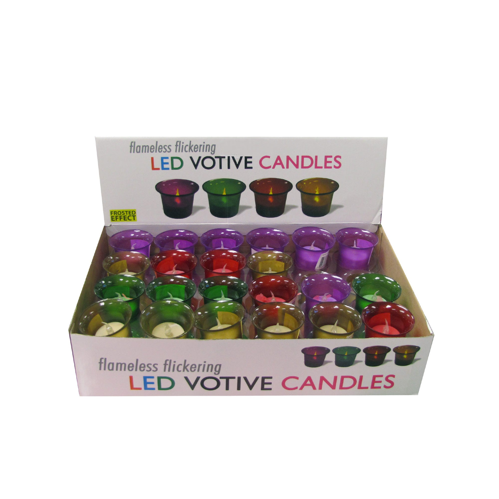 Flameless Flickering LED VOTIVE CANDLE Display- Qty 48