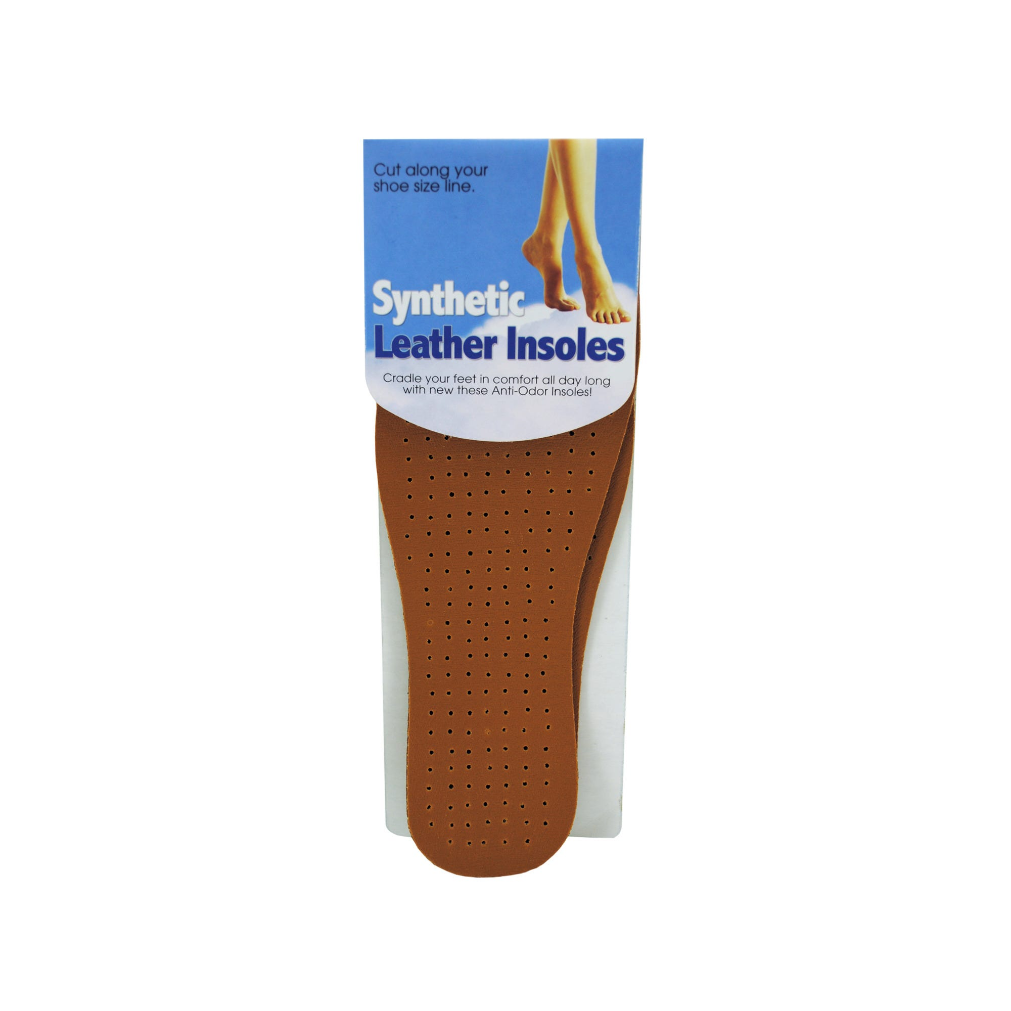Synthetic LEATHER Insoles- Qty 24