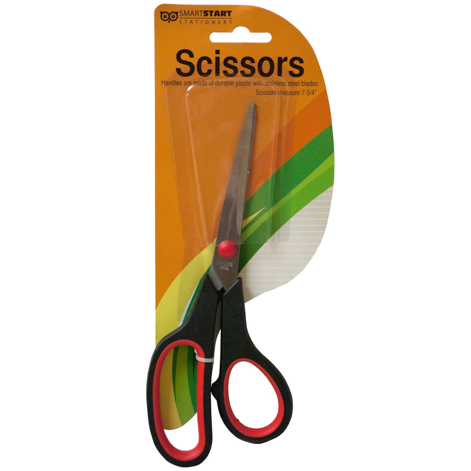 Stainless Steel SCISSORS with Plastic Handles- Qty 24