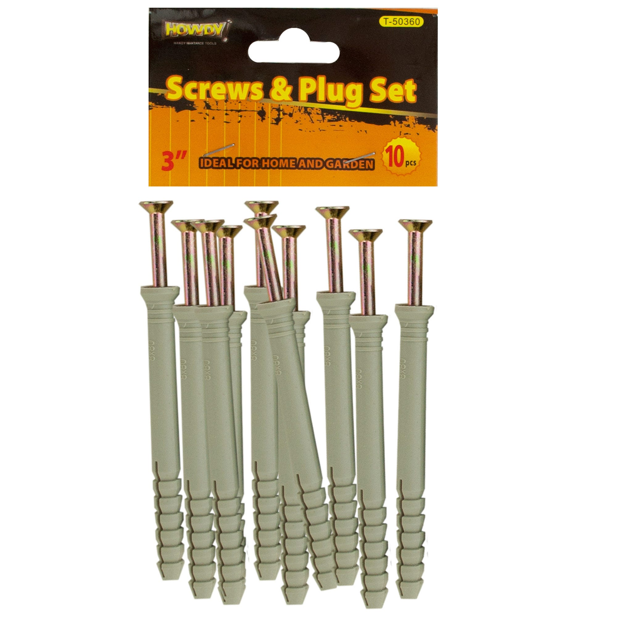 ''3'''' SCREWS with Ribbed Plastic Anchors Set- Qty 24''