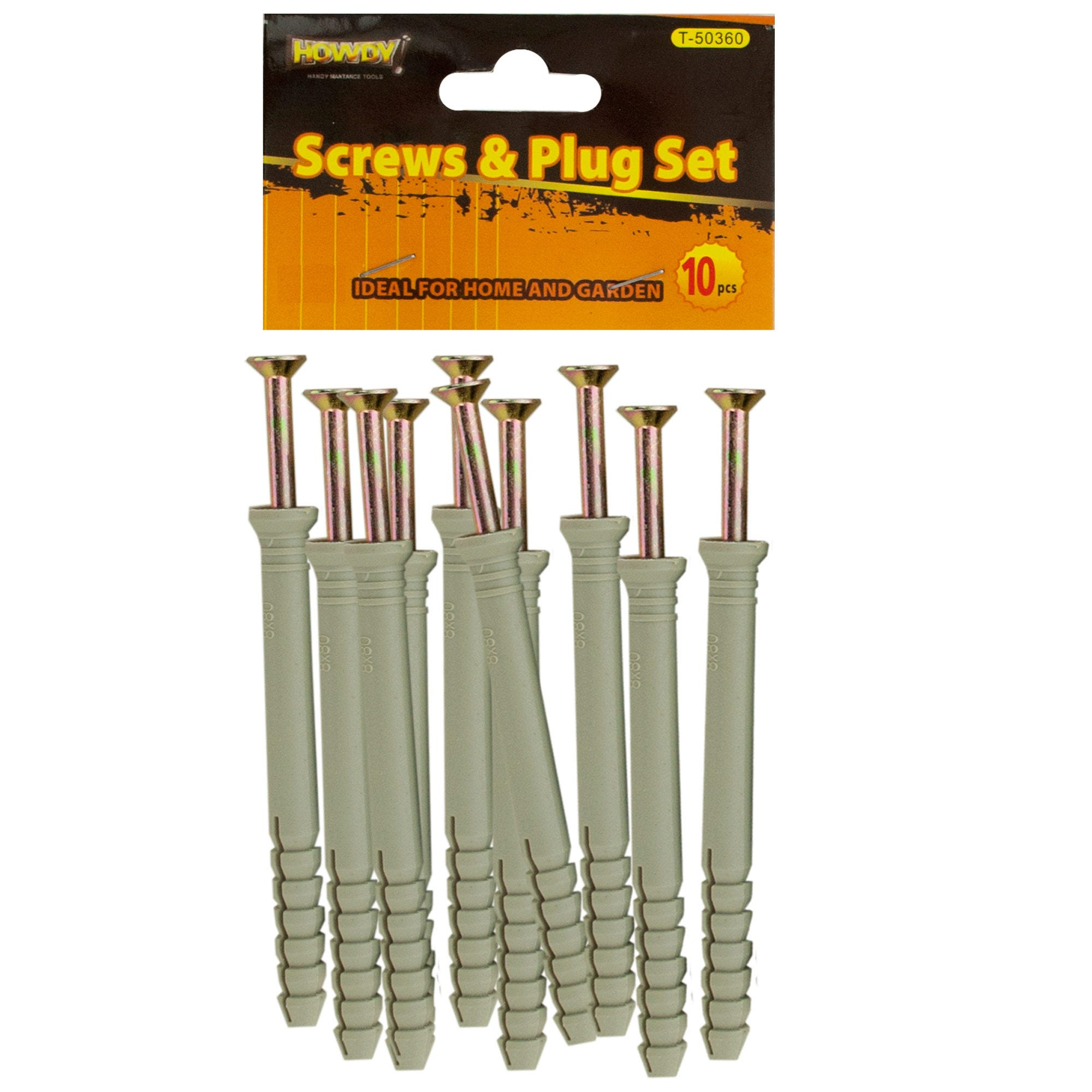 ''4'''' SCREWS with Ribbed Plastic Anchors Set- Qty 24''