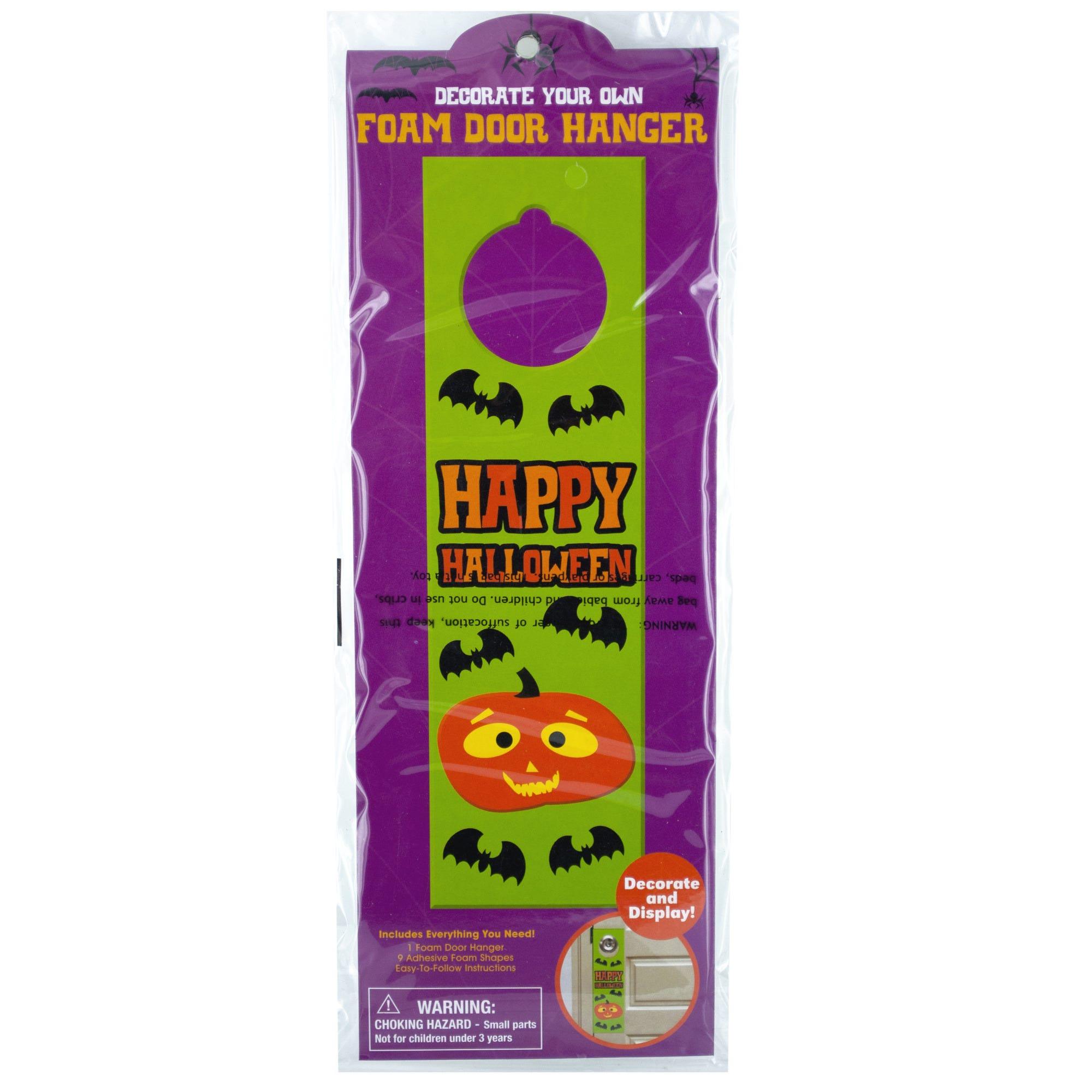 HALLOWEEN Decorate Your Own Foam Door Hanger- Qty 24