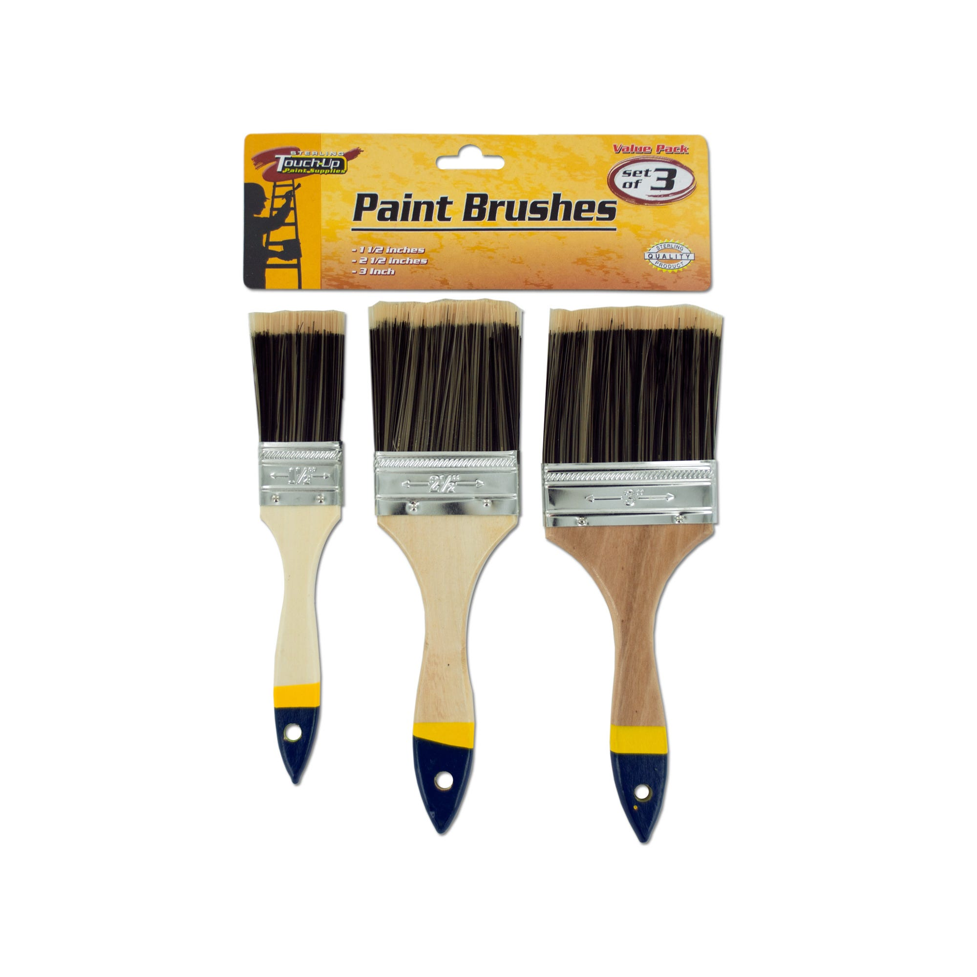 Paint Brush Set with Wood Handles- Qty 18