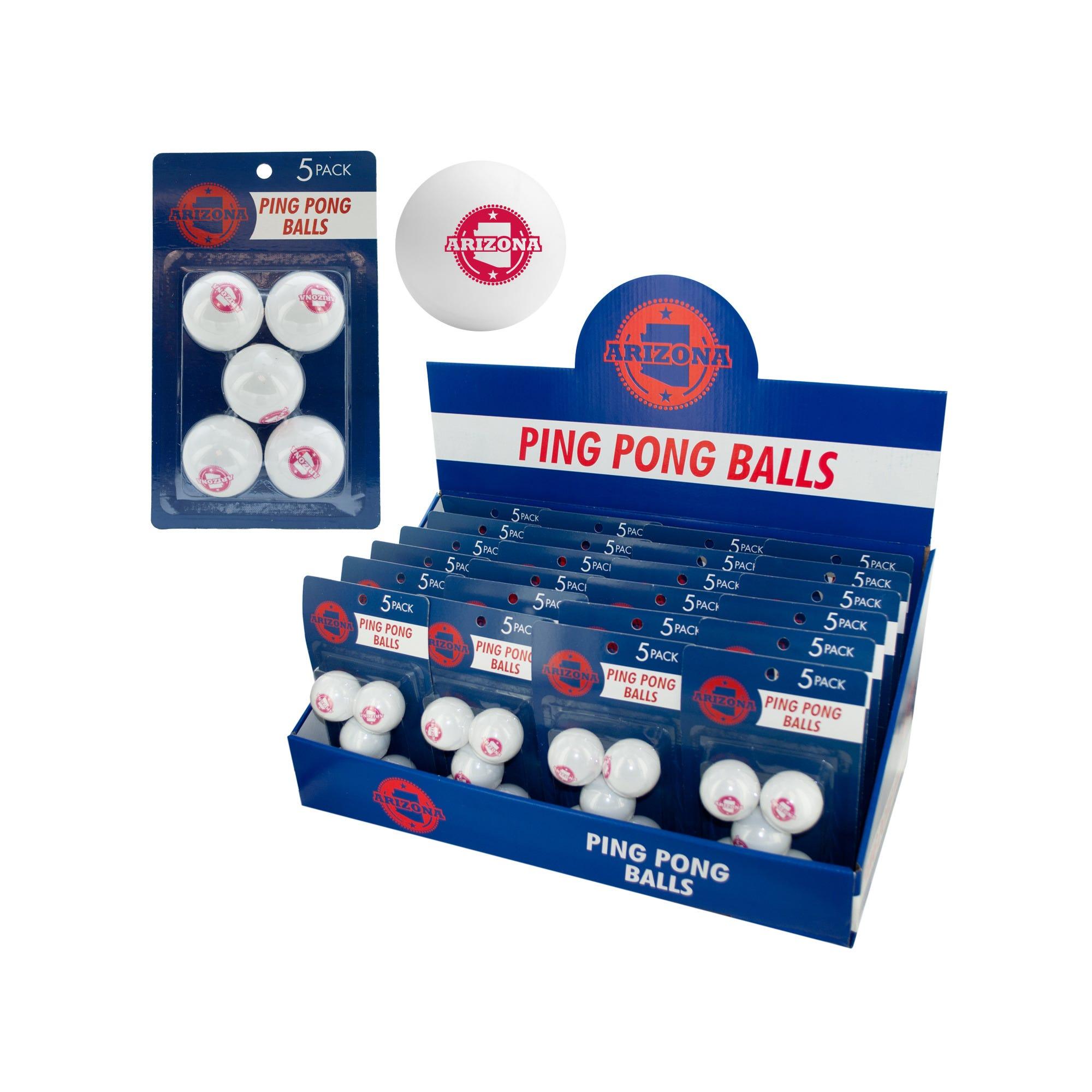 Arizona PING PONG Balls Countertop Display- Qty 24