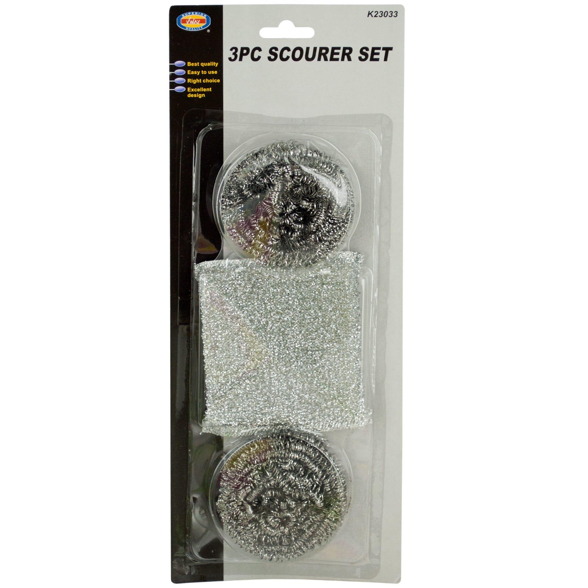 Kitchen Scour Pad & Metal Scrubber Set- Qty 24