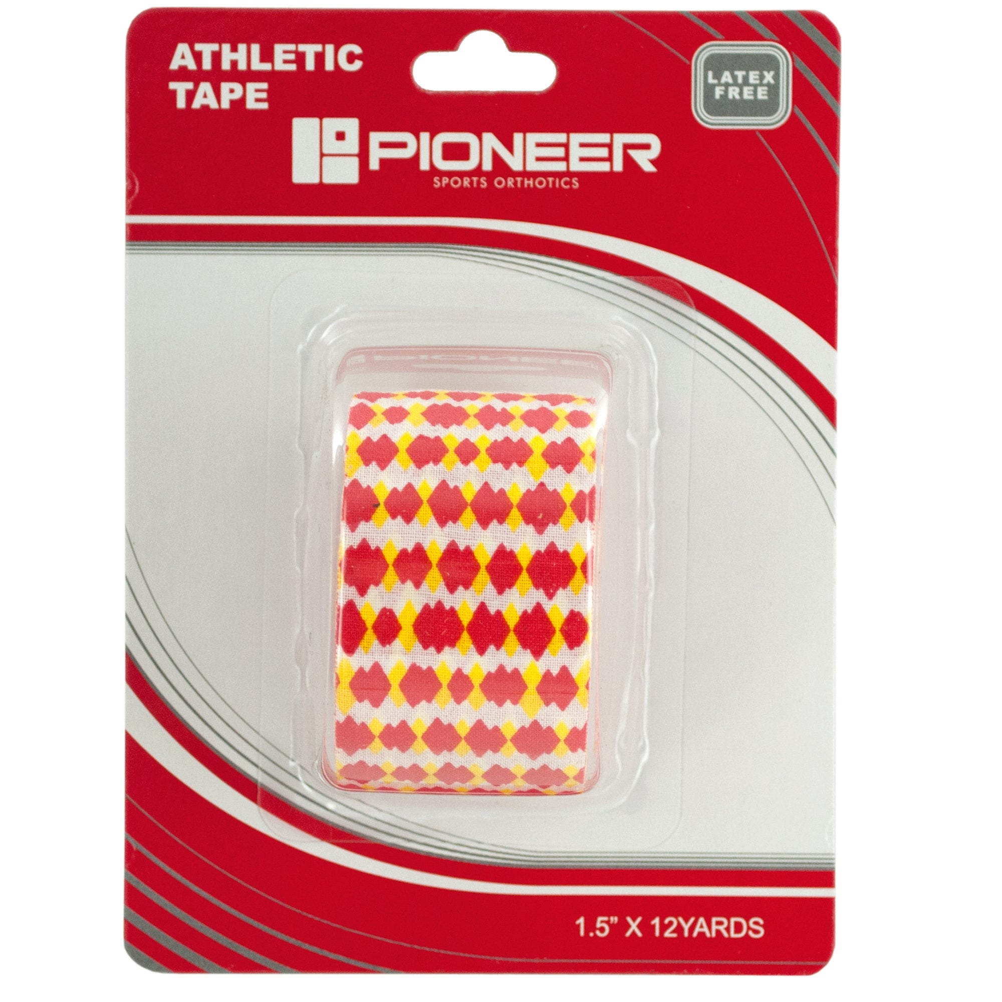pioneer-red-yellow-dots-athletic-tape