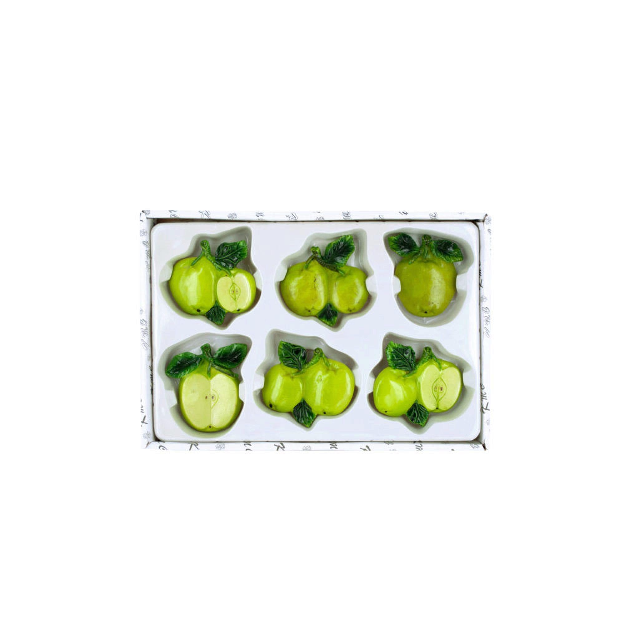 decorative-green-apple-MAGNETs-set