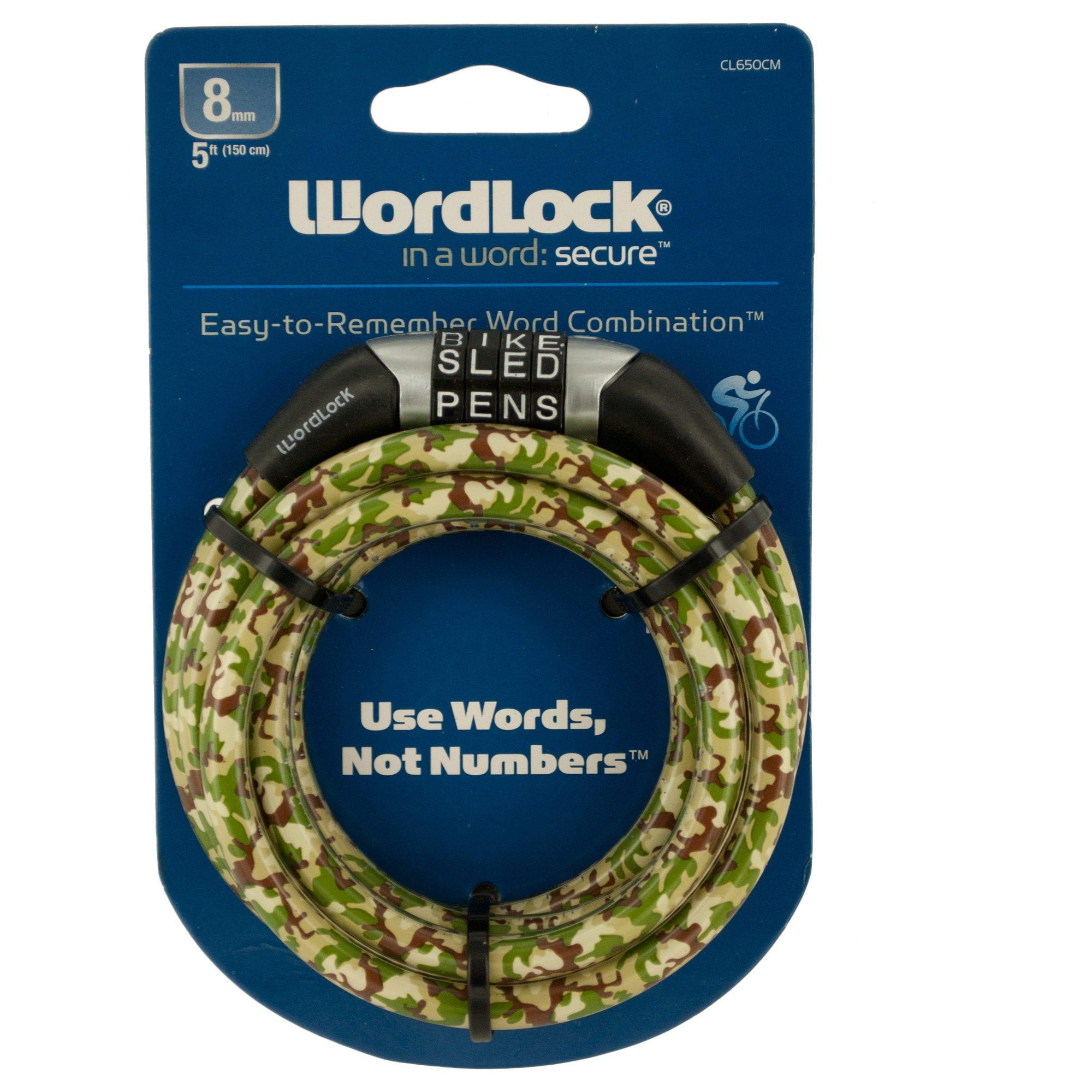 WordLock Cable Bike Lock- Qty 8