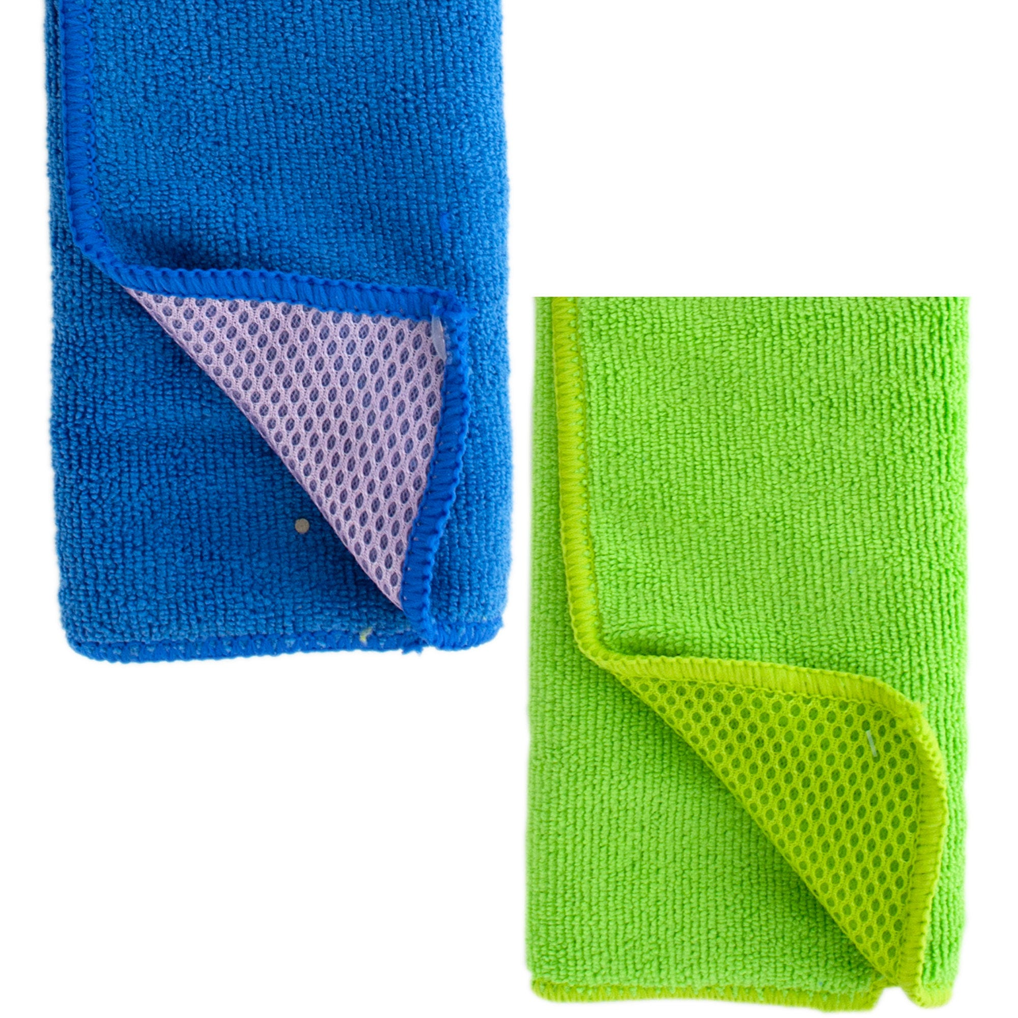 Two-Sided Microfiber Auto Detail Cloth- Qty 18