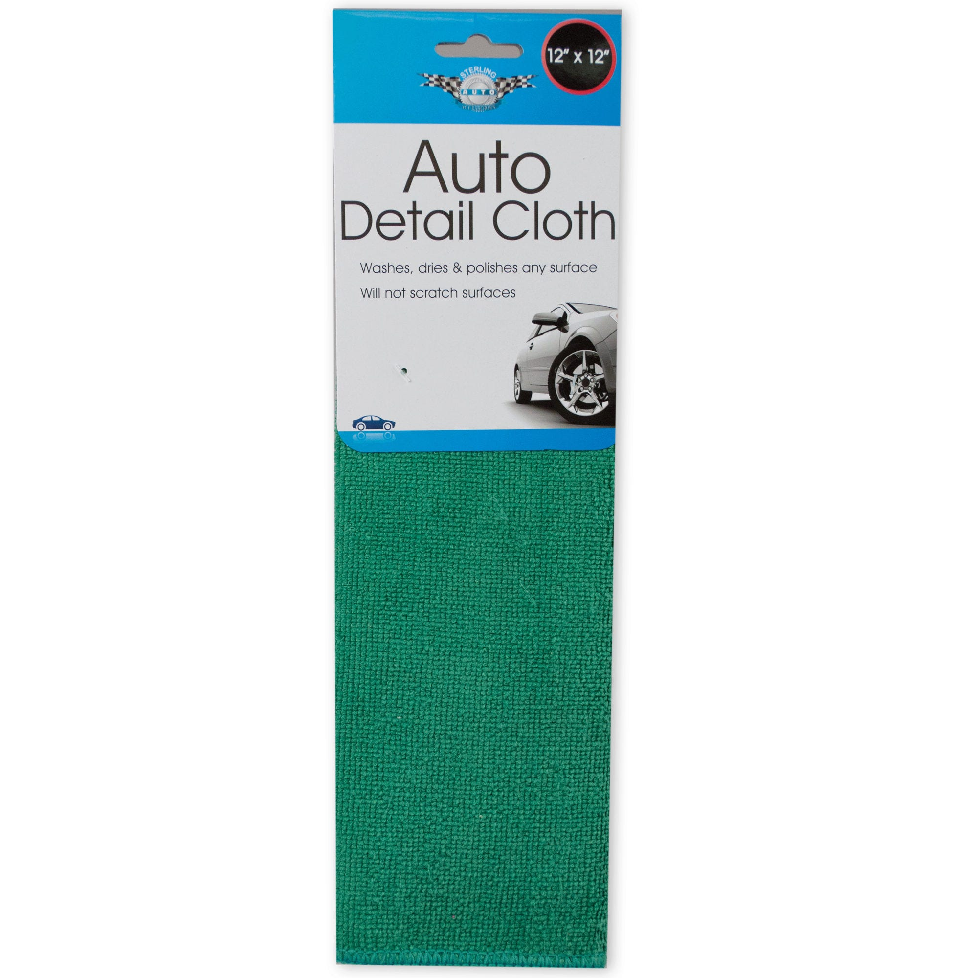 Two-Sided Microfiber Auto Detail Cloth- Qty 24
