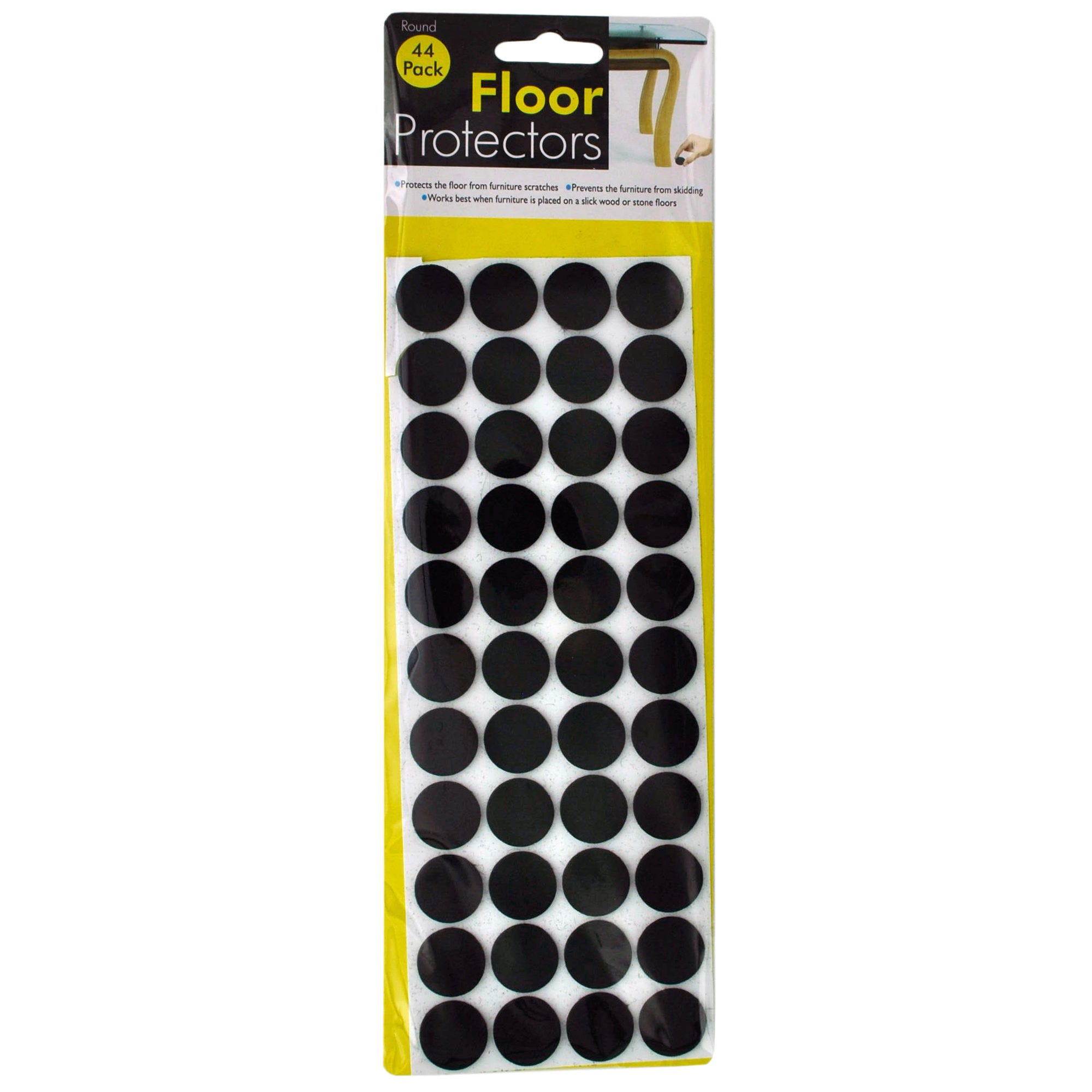 Self-Adhesive Round Floor Protectors- Qty 24