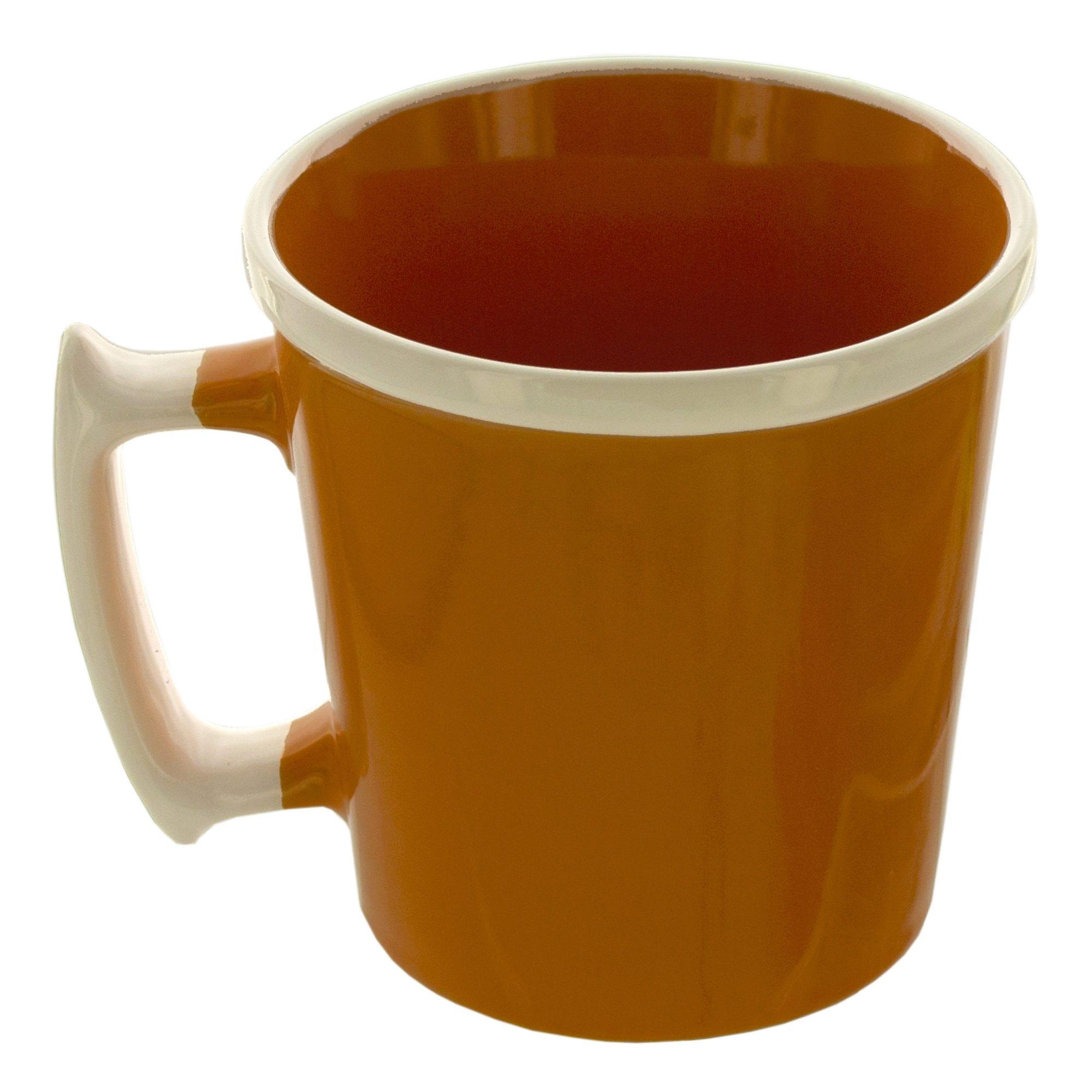 11 oz. Orange MUG with White Rim & Handle- Qty 24