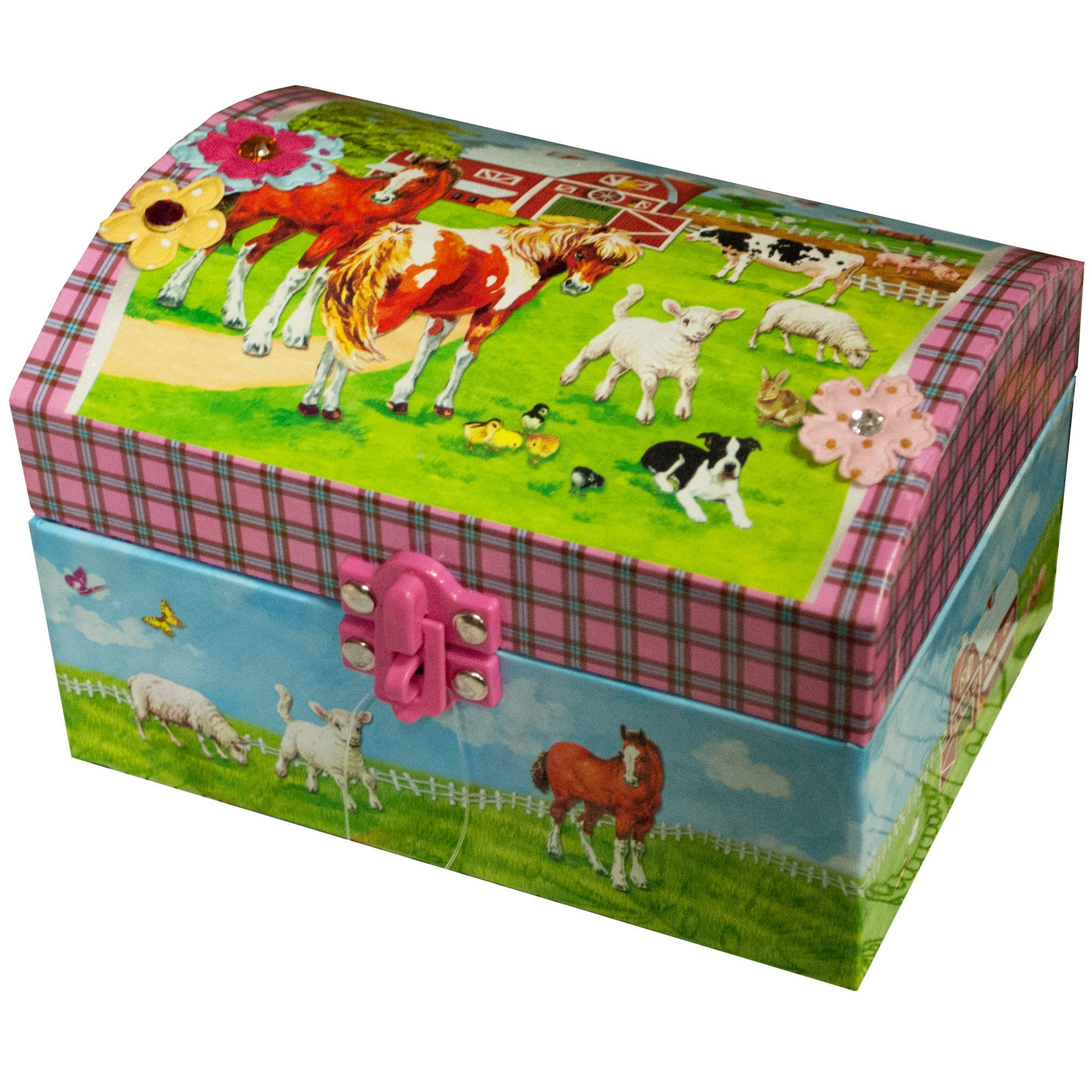 Farm Animals Musical Jewelry BOX- Qty 8