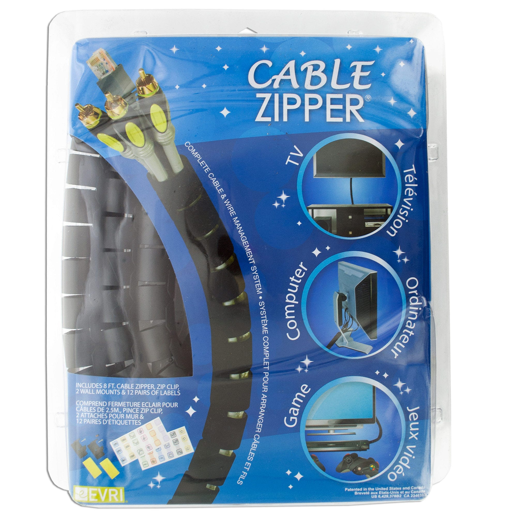 Cable Zipper Wire Management System- Qty 8
