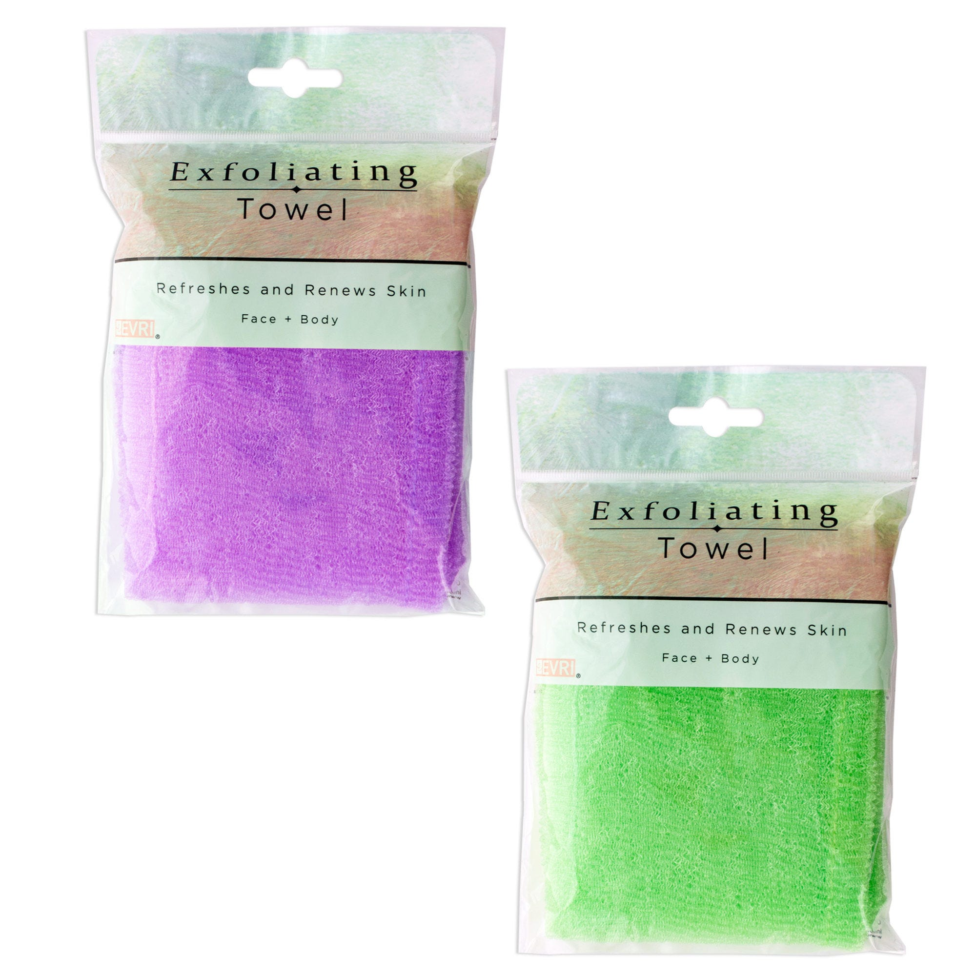 Exfoliating Shower Towel Clip Strip- Qty 9
