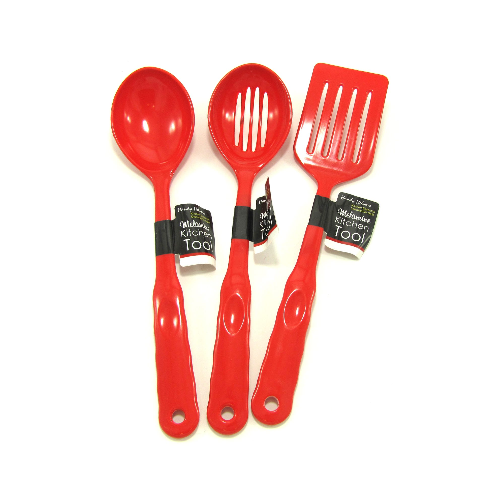 Red Melamine Kitchen TOOLS- Qty 24