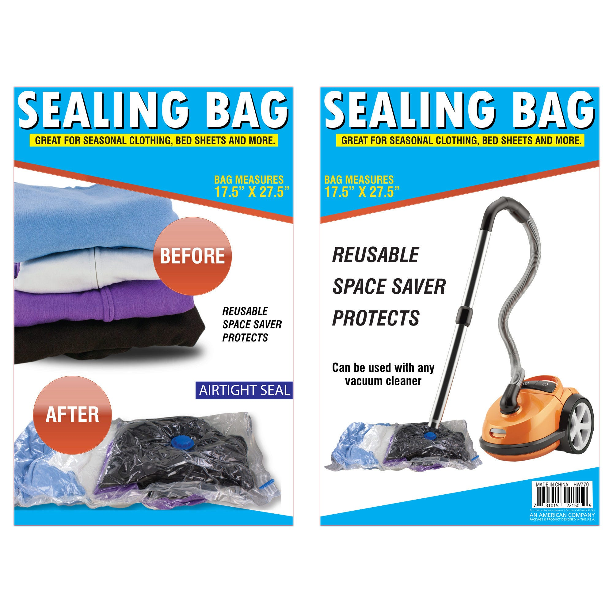 Vacuum Seal Storage Bag- Qty 24
