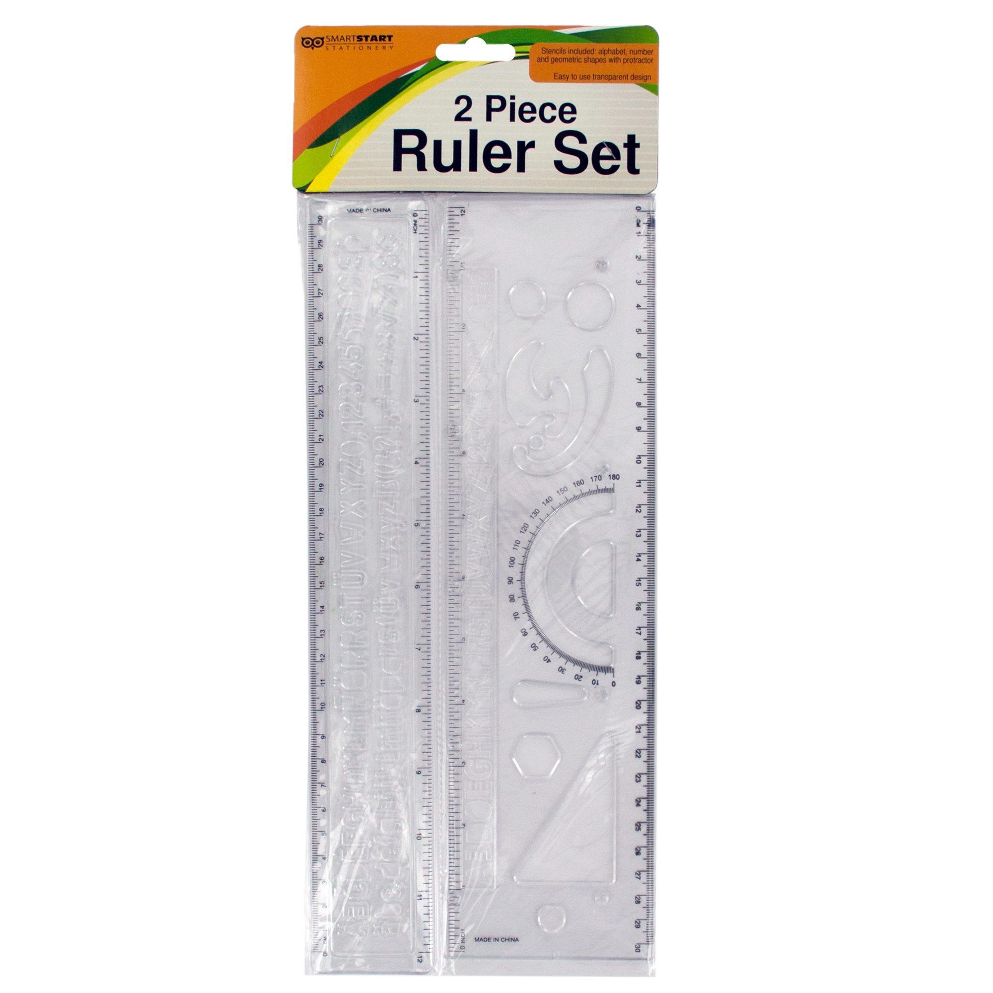 Alphabet & Number Stencil RULER Set- Qty 24