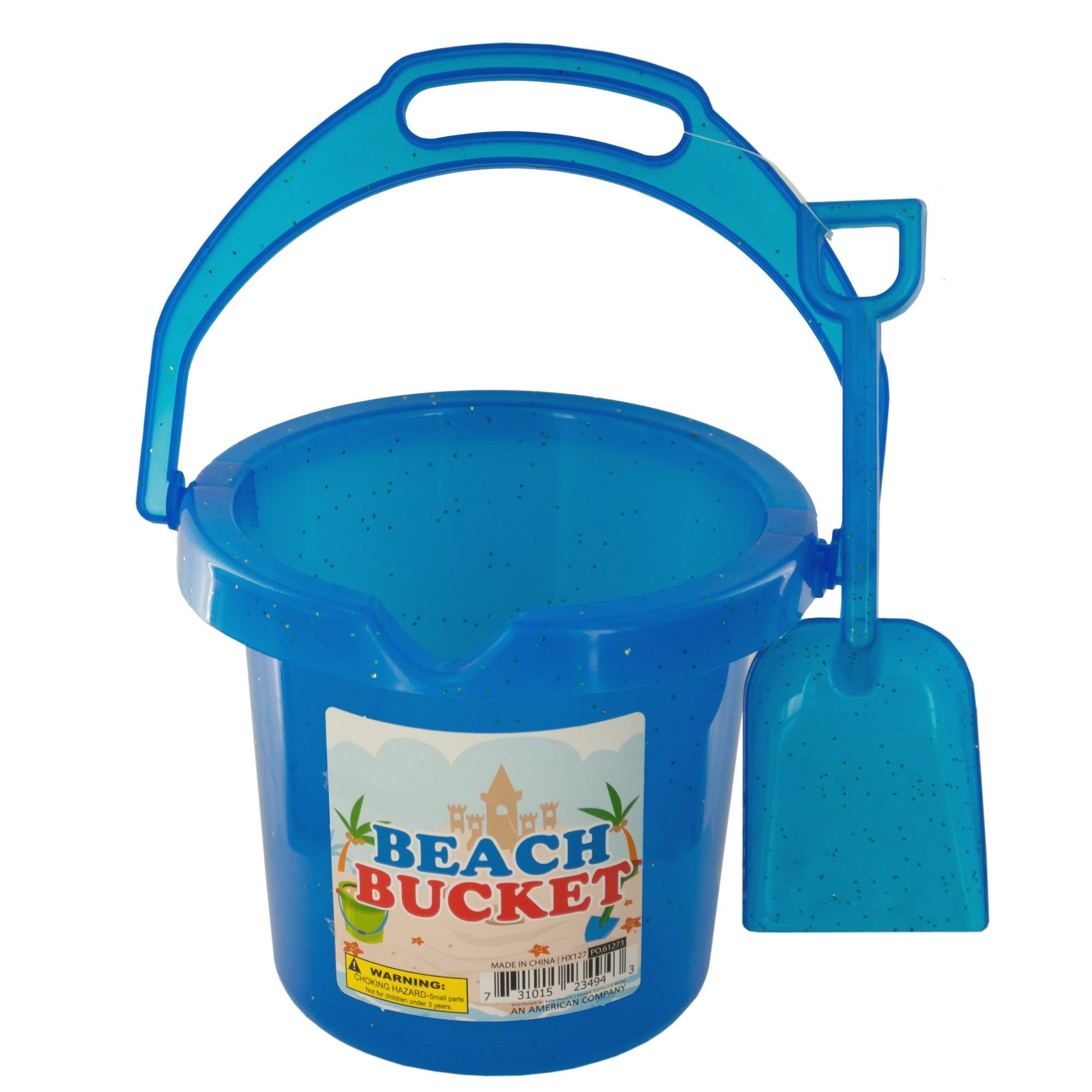 Glitter BEACH Bucket with Shovel- Qty 24