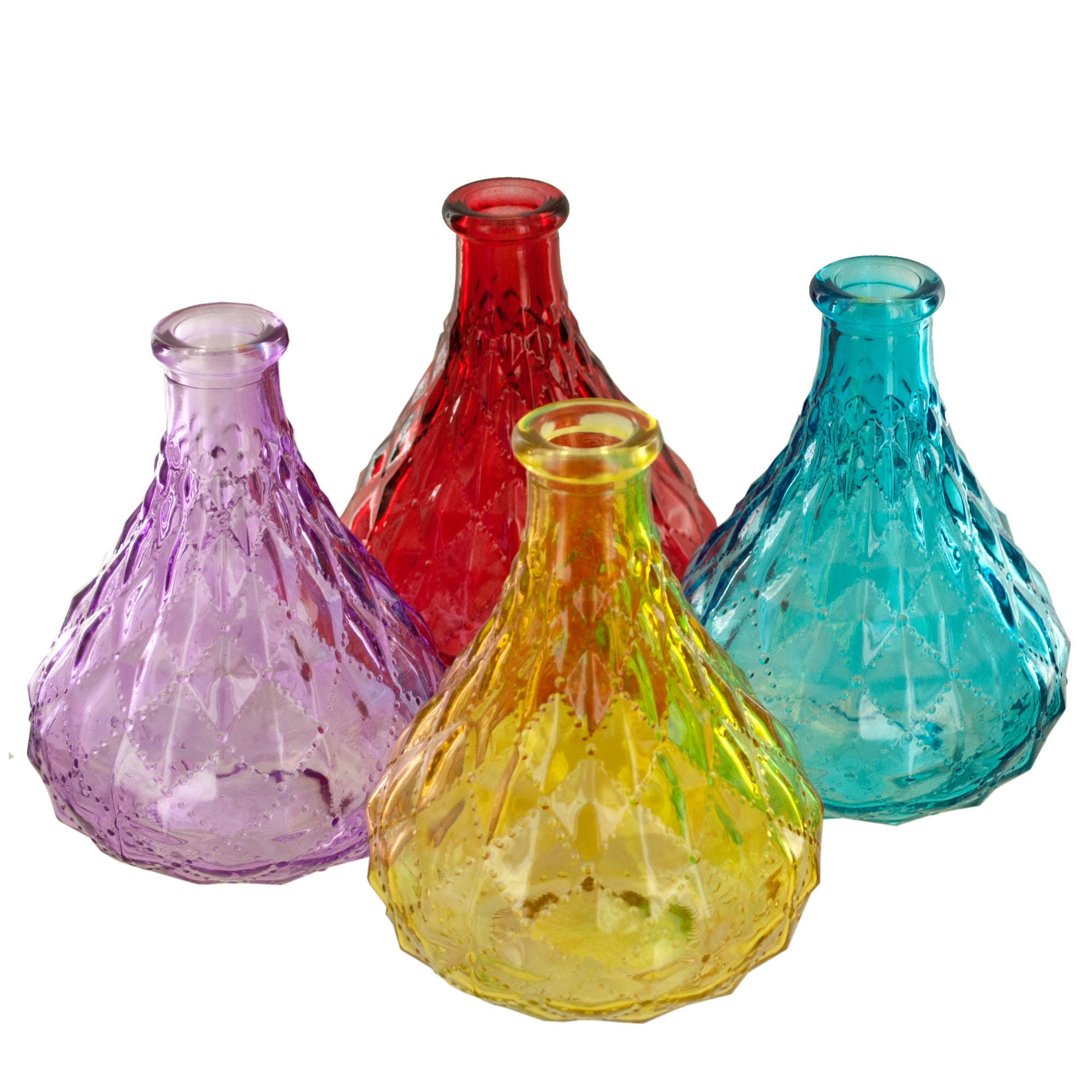 diamond-texture-glass-bottle-VASE