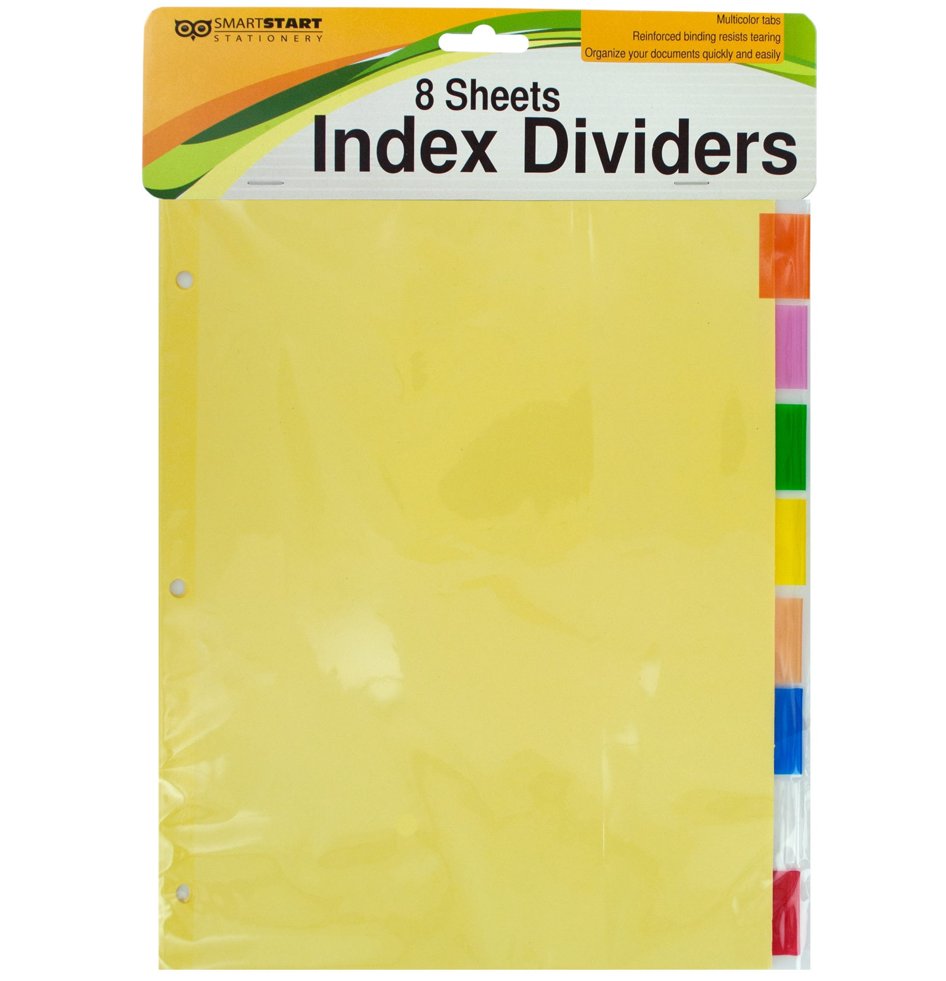 Index Dividers with Multicolor Tabs- Qty 24