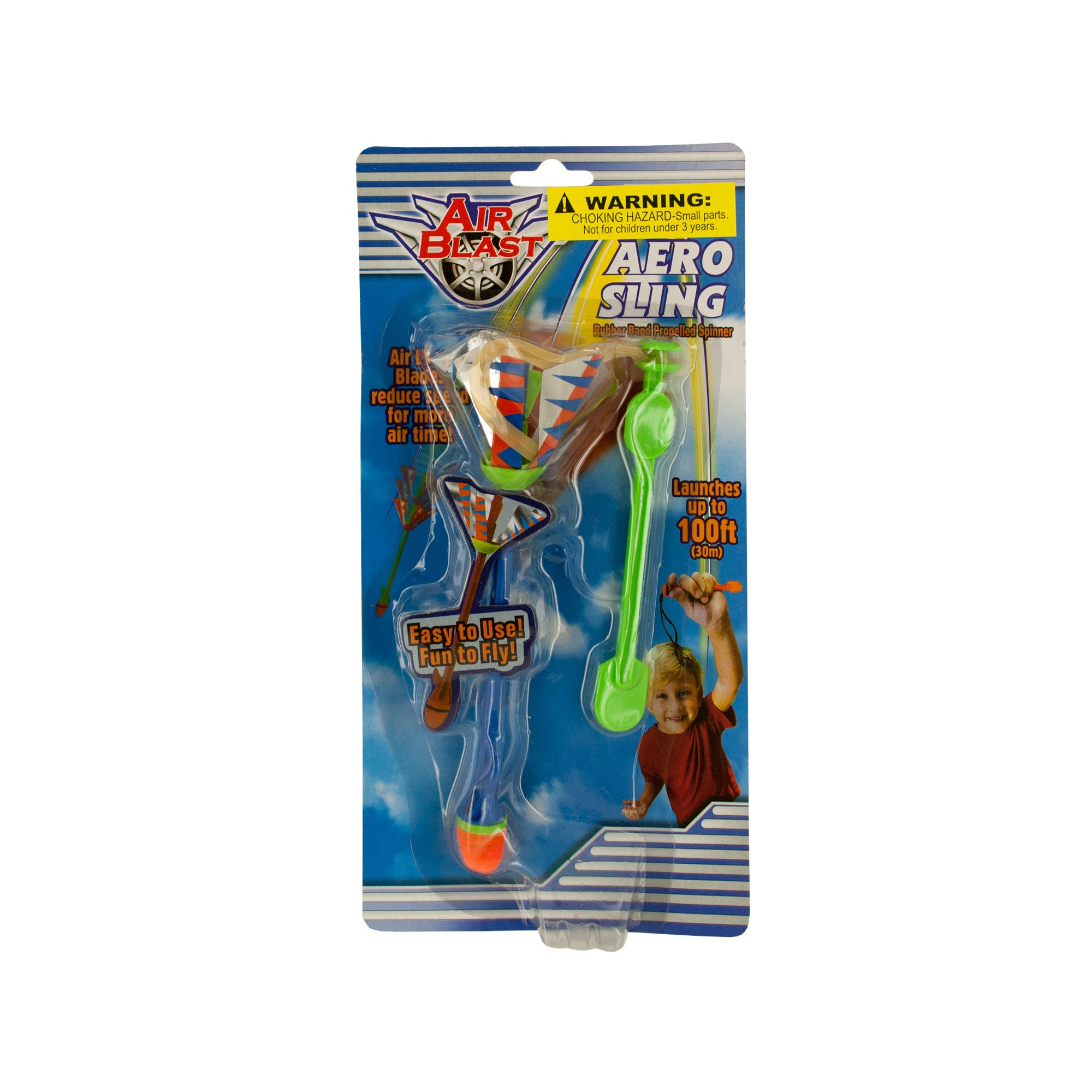Aero Sling RUBBER BAND Spinner Toy- Qty 24