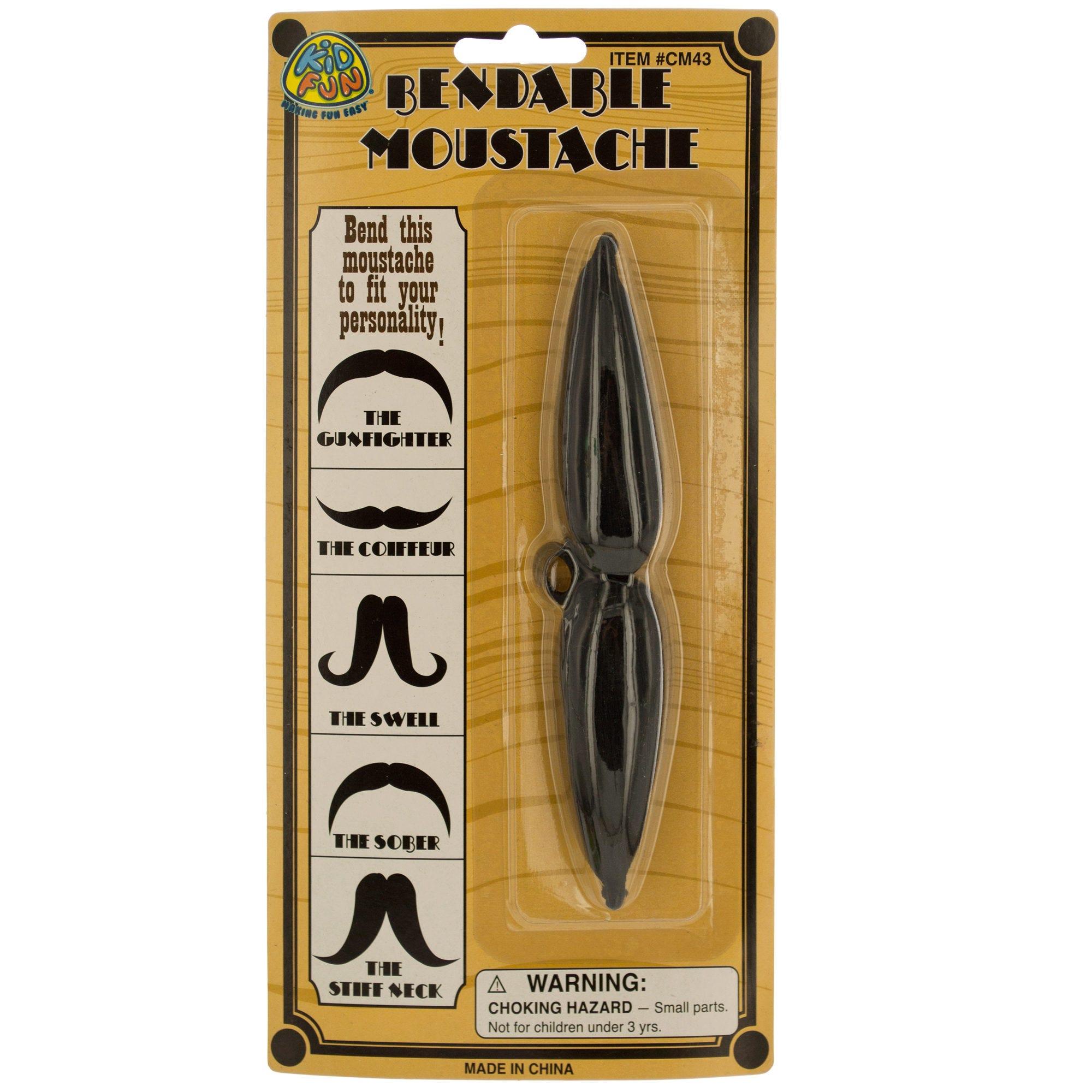 Bendable COSTUME Moustache- Qty 24