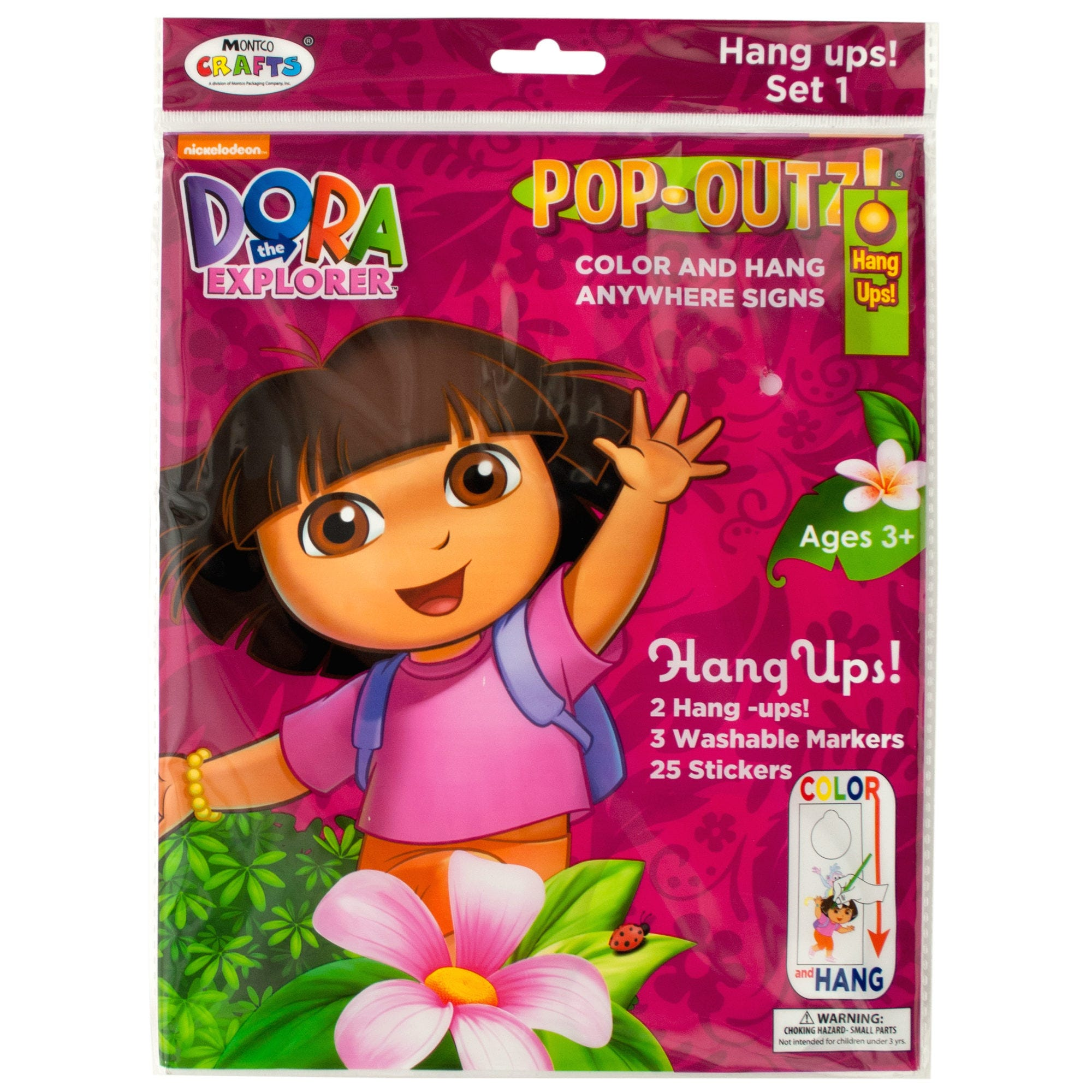 DORA the Explorer Pop-Outz Hang Ups Activity Set- Qty 24