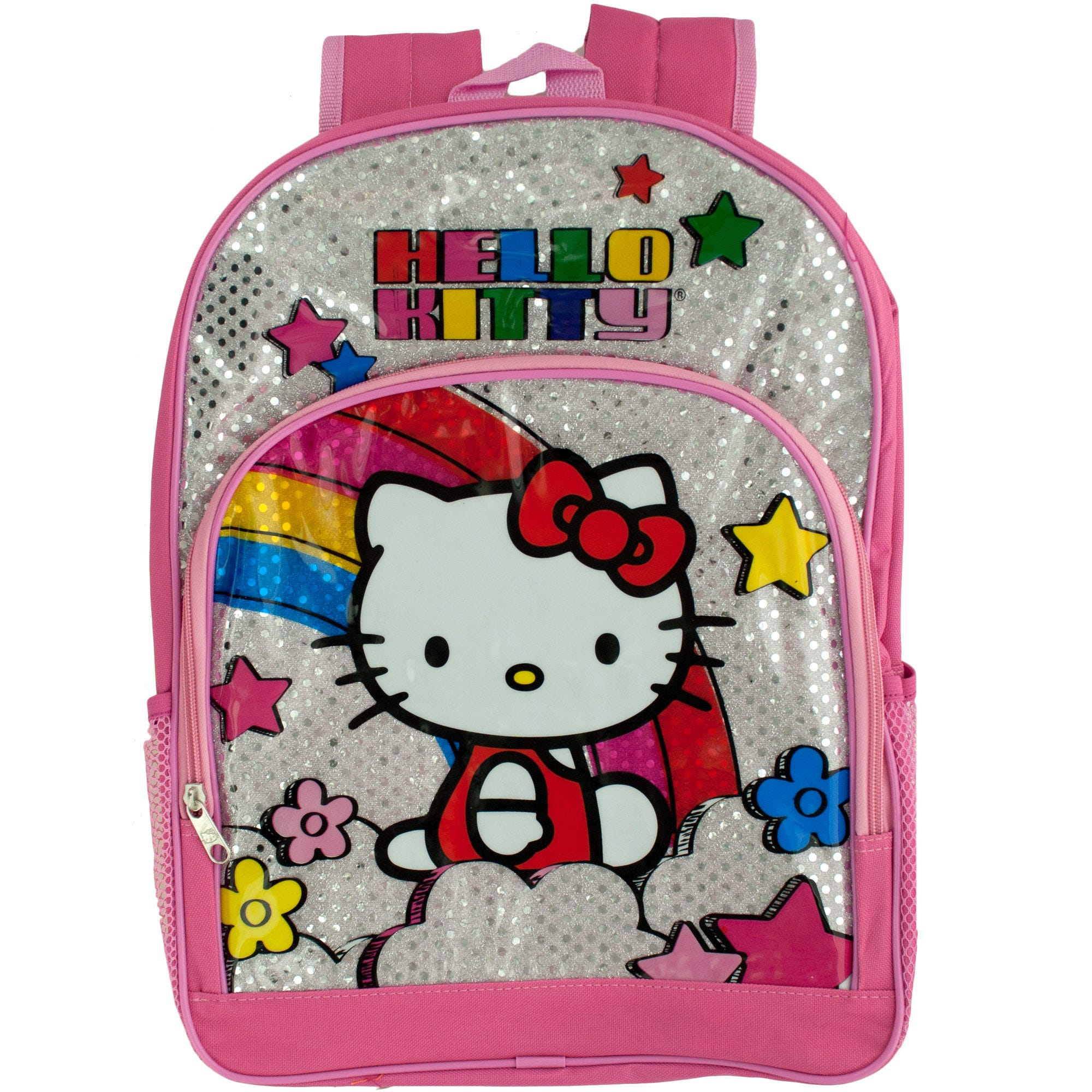 Pink & Silver HELLO KITTY Rainbow Backpack- Qty 4